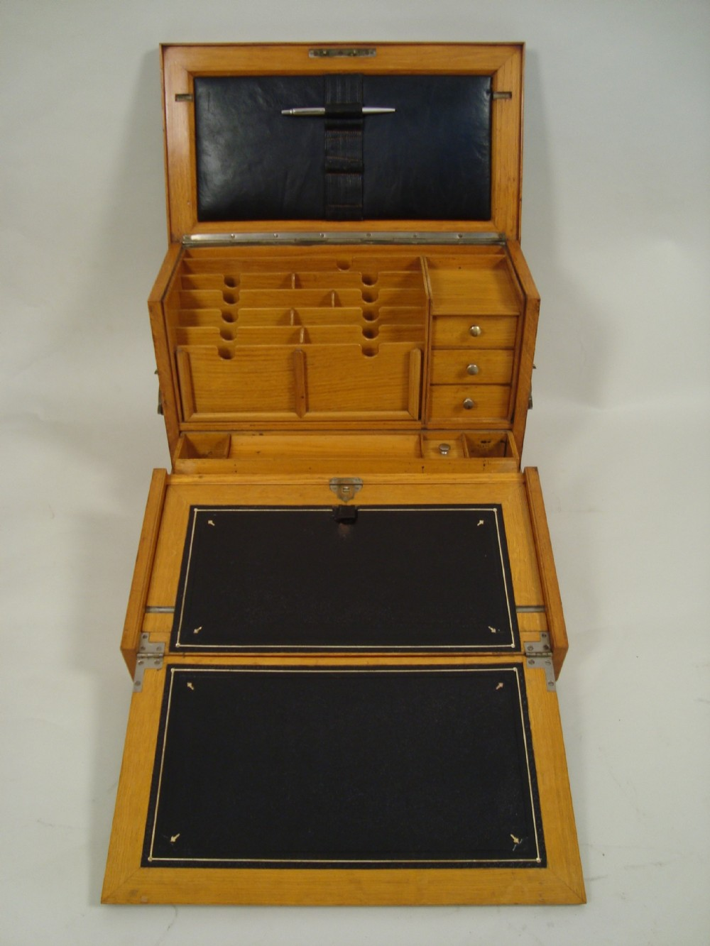 an exceptional victorian campaign stationary box
