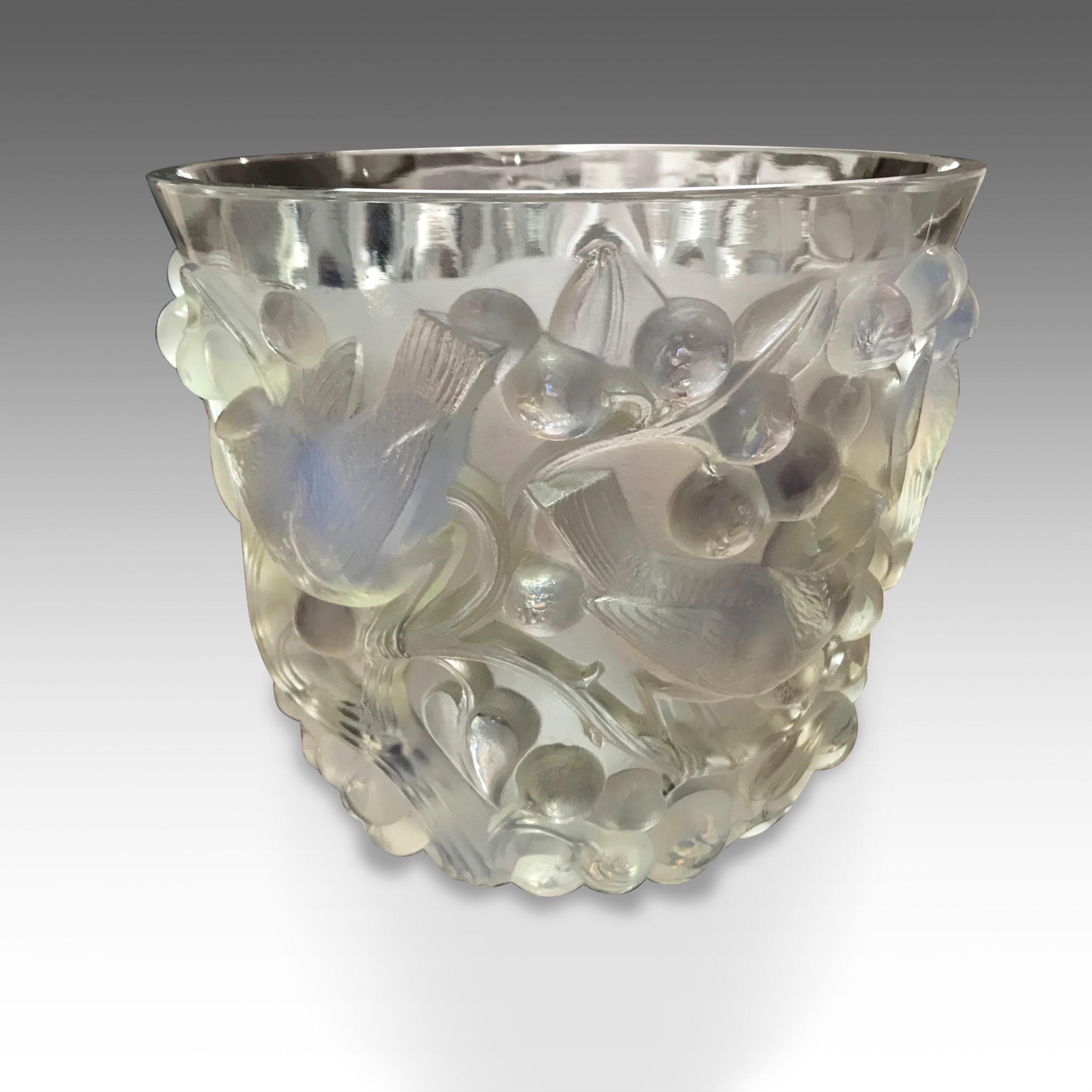 an exquisite ren lalique vase c1930