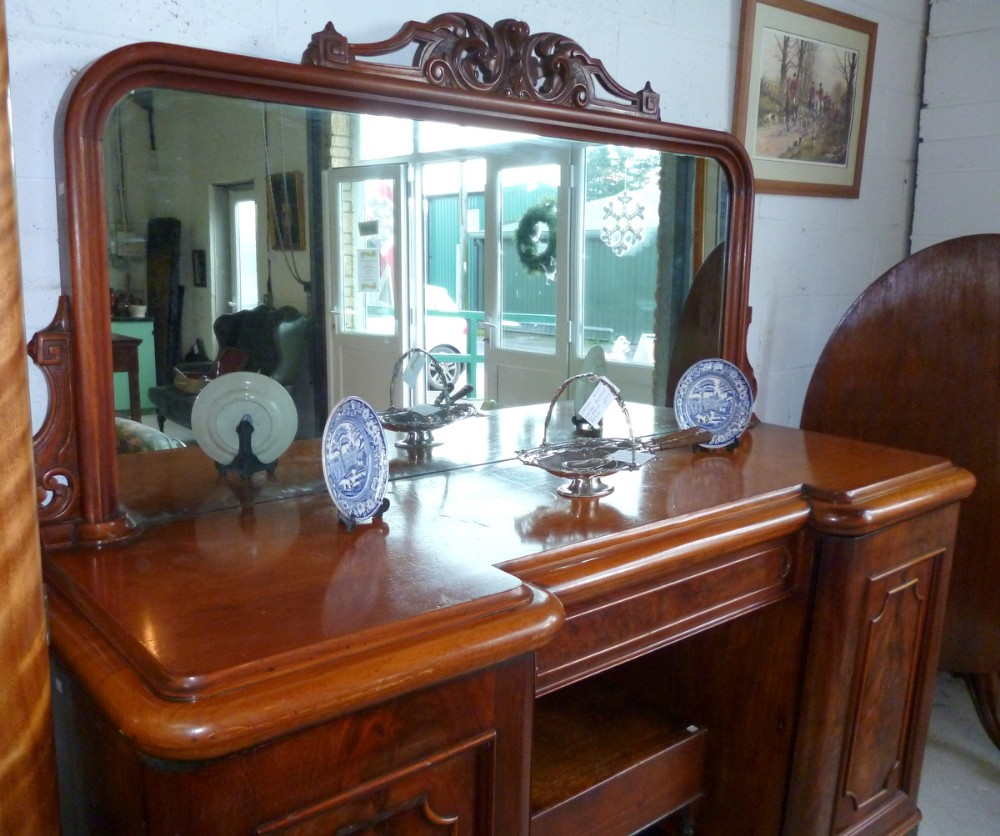 victorian sideboard with mirror mirror back sideboard 254031 sellingantiques 6770