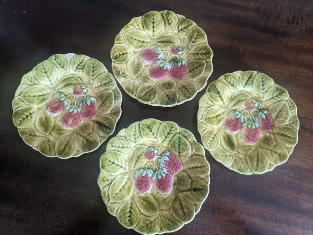 a set of four french dessert plates