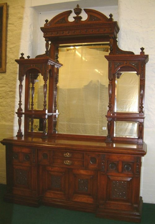 victorian sideboard with mirror mirror backed sideboard 145010 6770