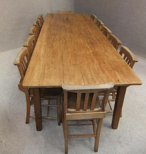 French farmhouse table 12 edwardian chapel chairs for French farmhouse dining chairs