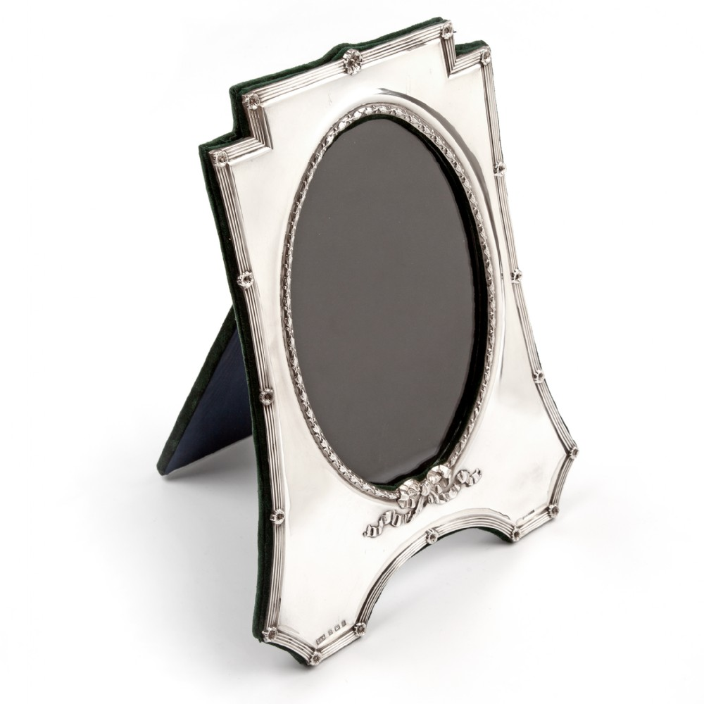 large edwardian shaped rectangular silver photo picture frame