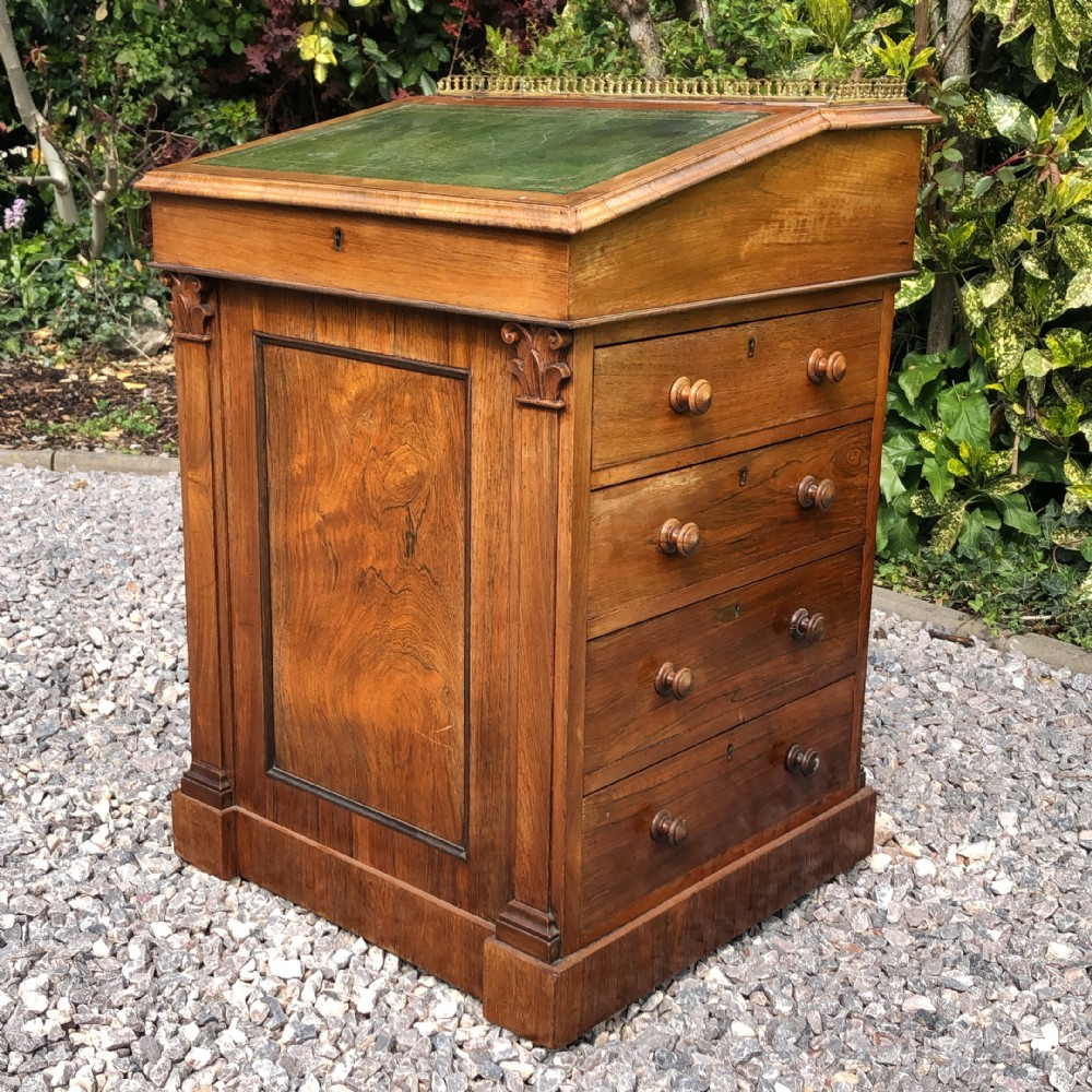 early 19th century rosewood davenport desk in the manner of gillows