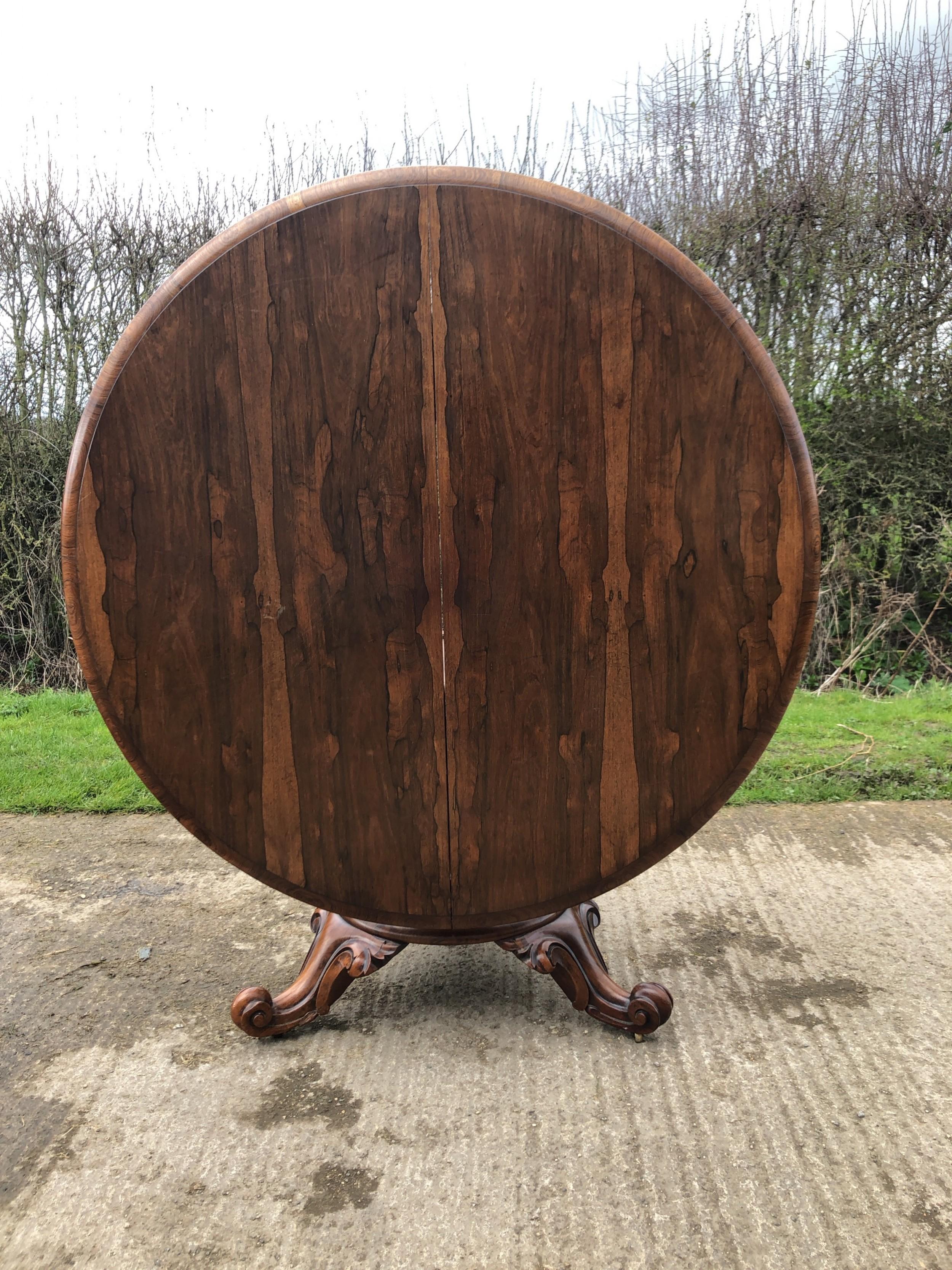 early victorian rosewood looetable