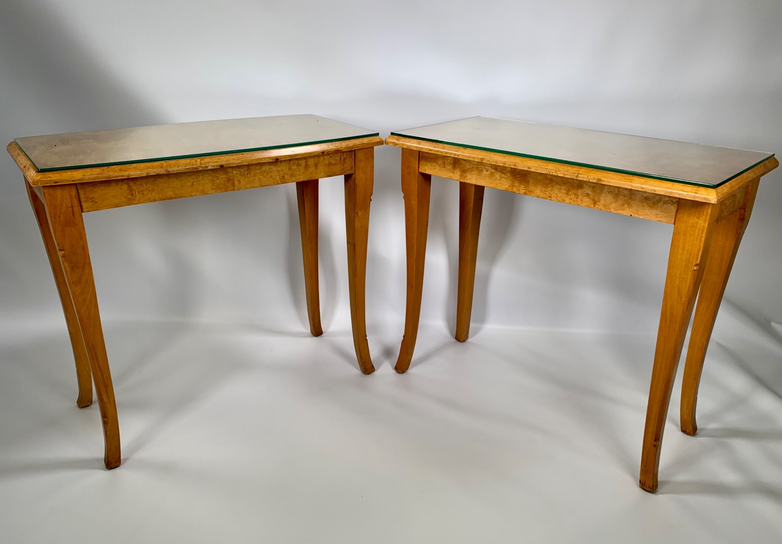 a pair of swedish art deco side tables