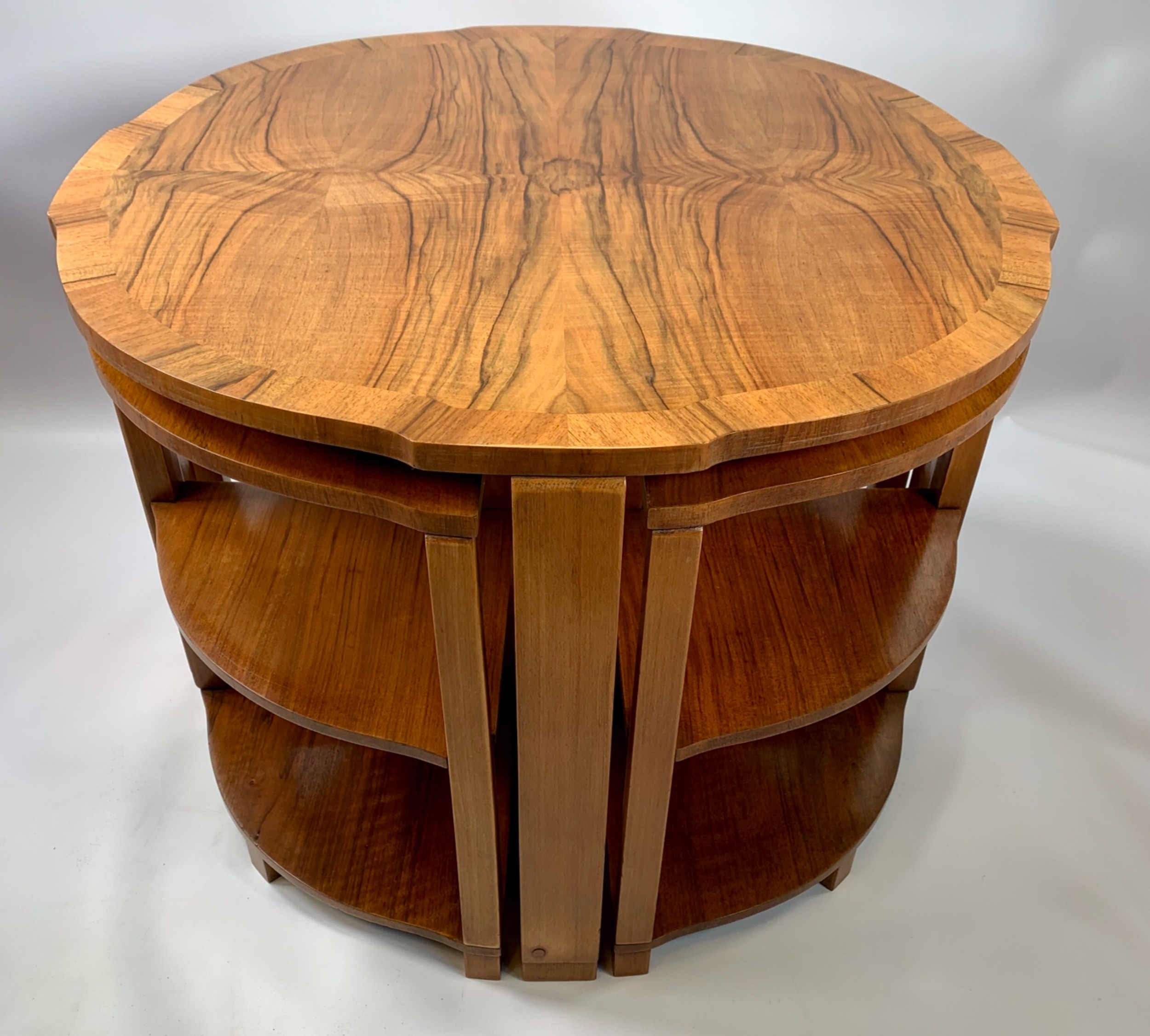 art deco epstein nest of 5 tables