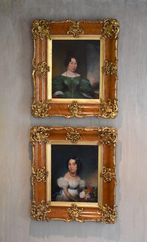 superb pair of late regency oil portraits