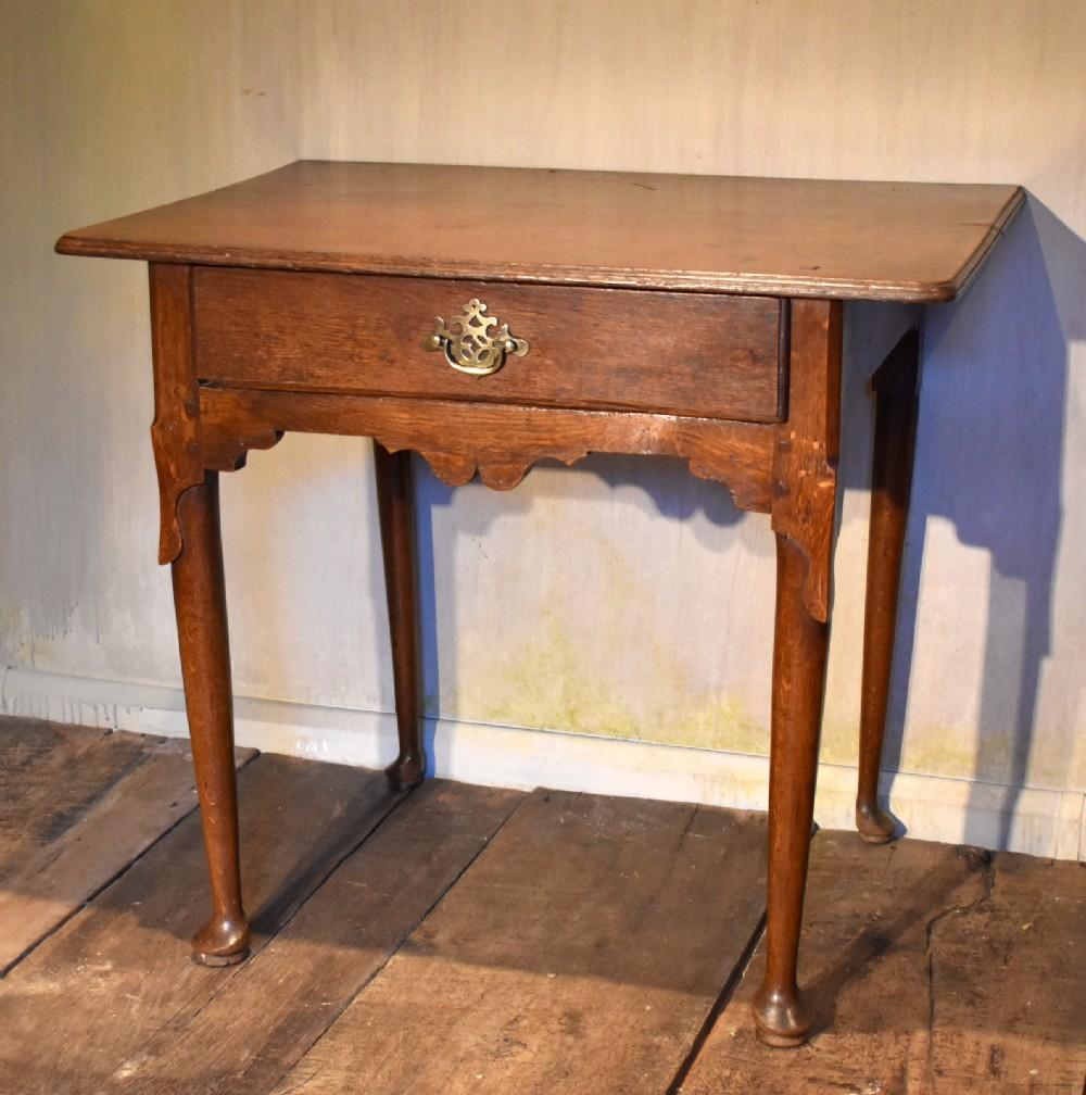early georgian oak side table