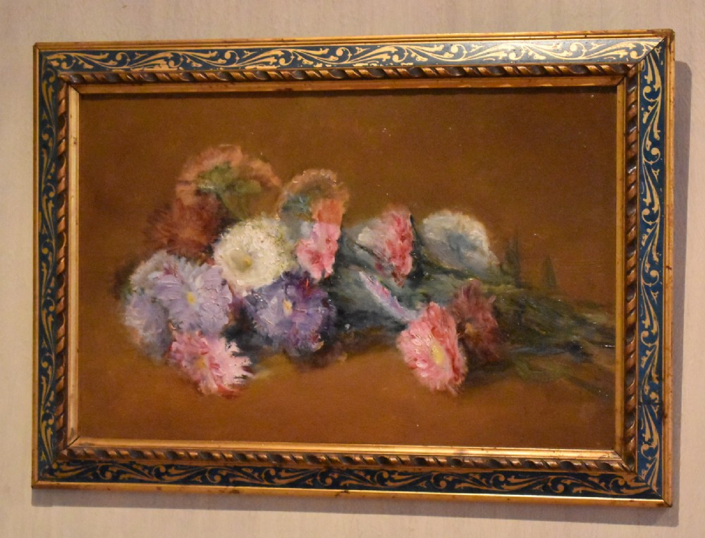 french still life oil painting of flowers