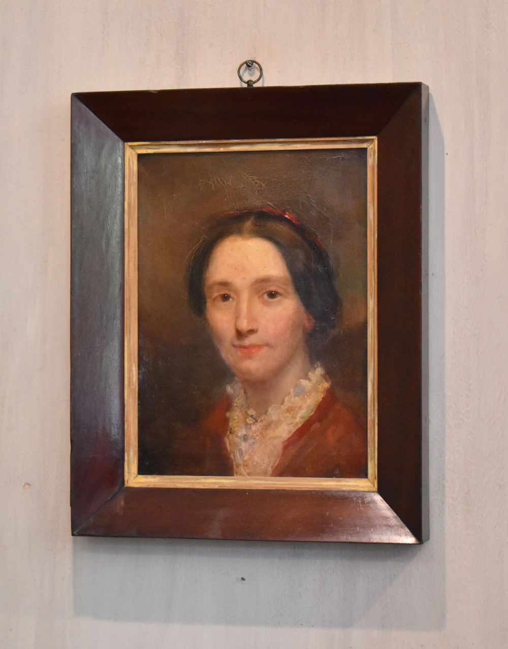 late regency portrait oil painting of a lady