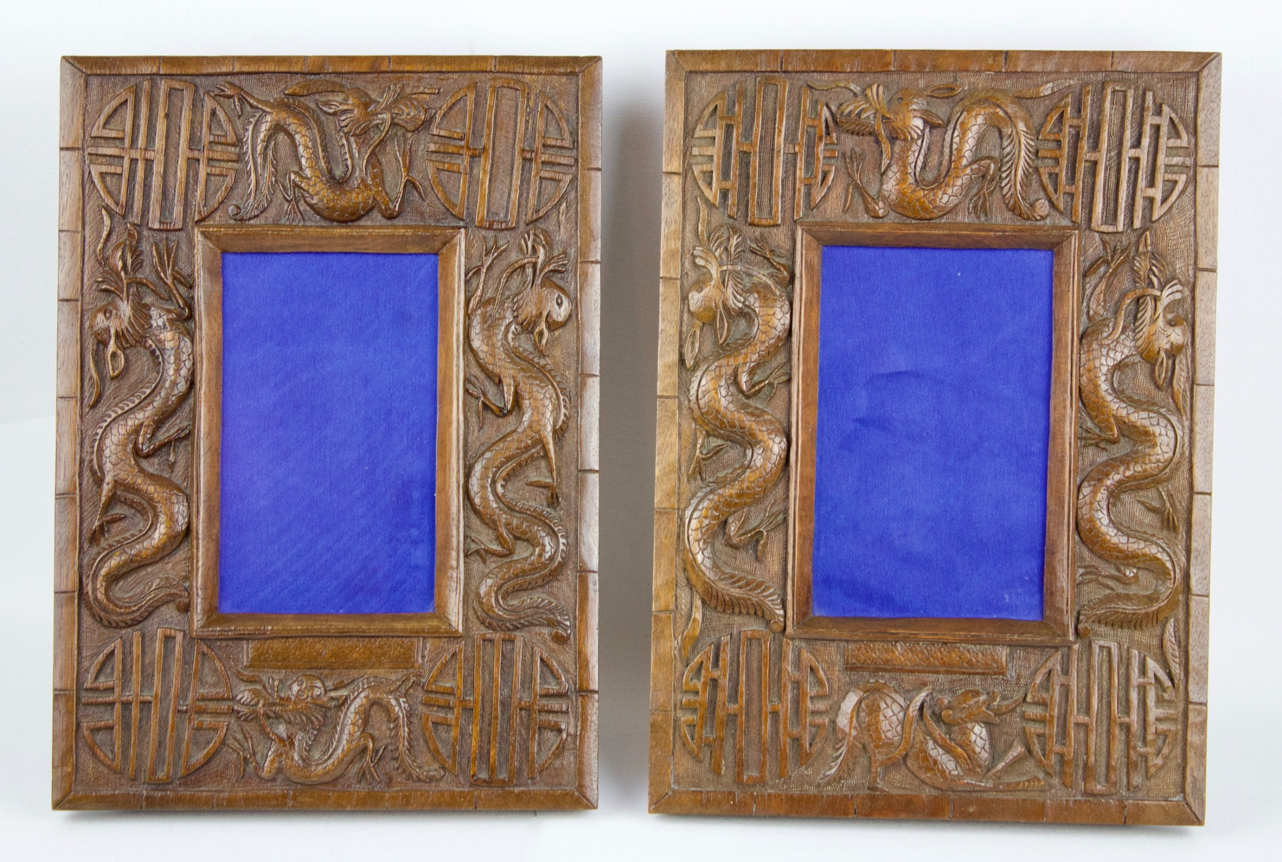 chinese pair of photo frames