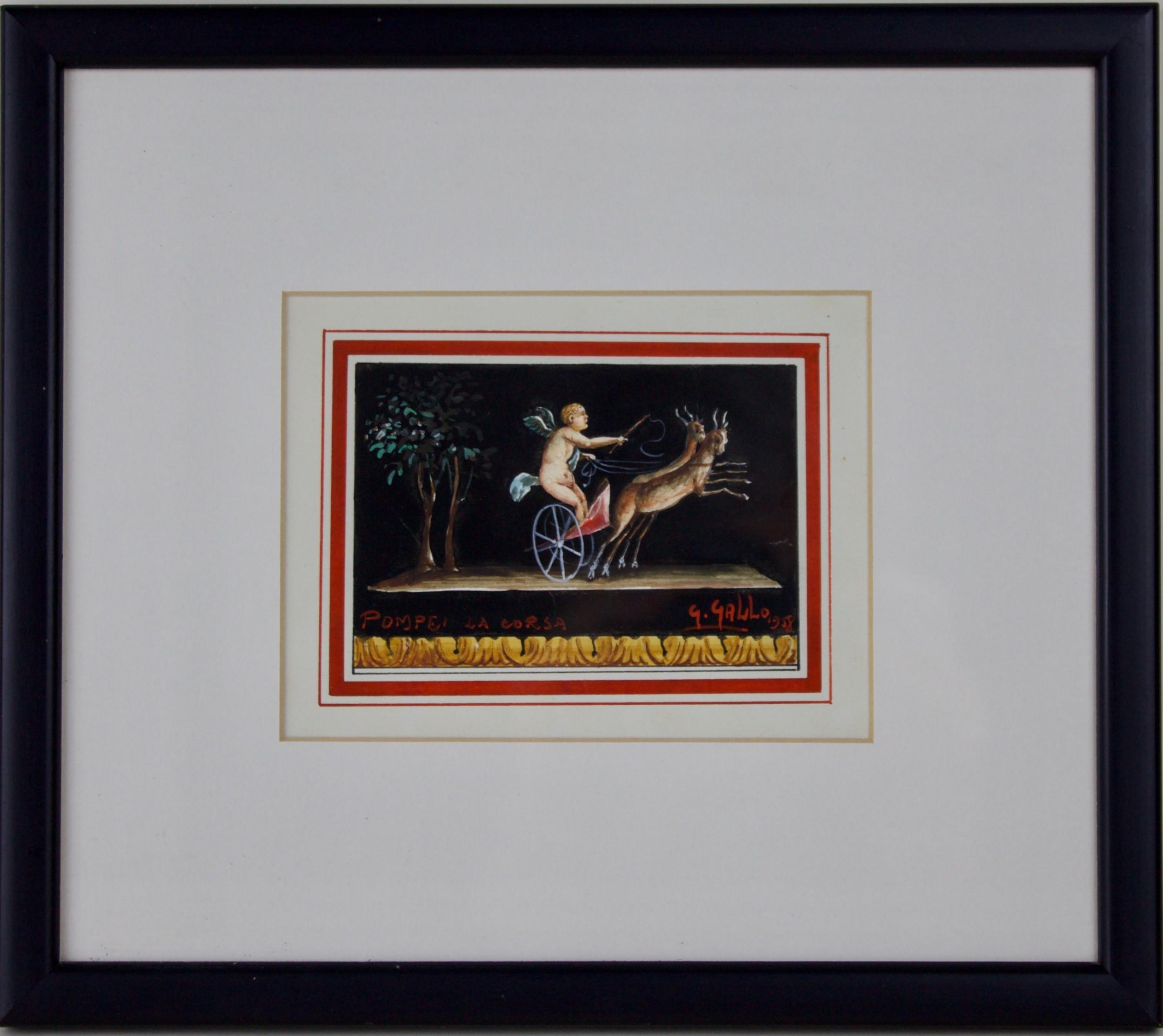 giovanni gallo italian gouache painting