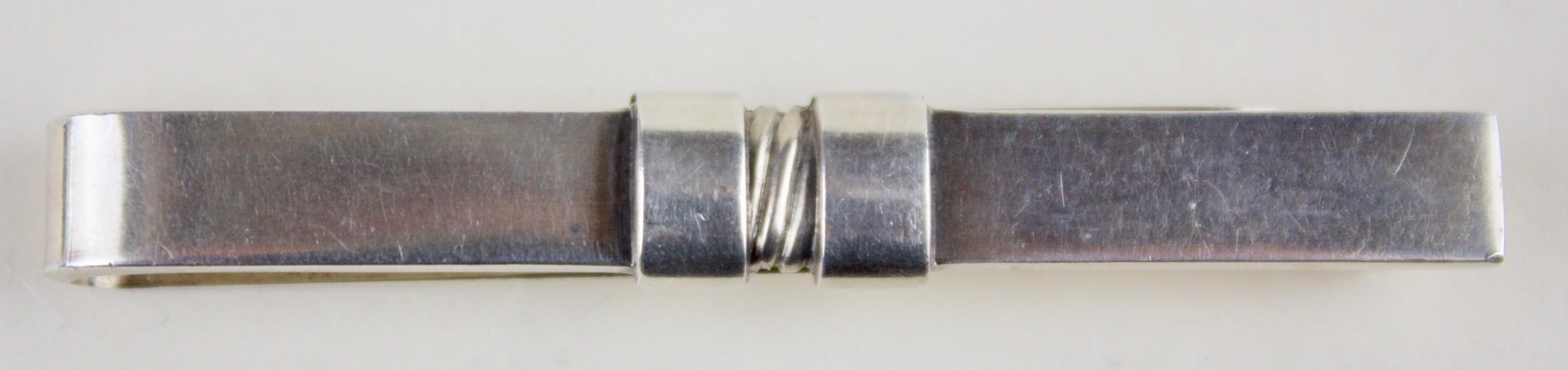 georg jenson silver tie clip