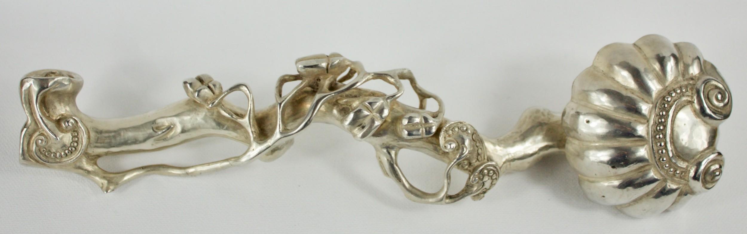 chinese silver ruyi sceptre
