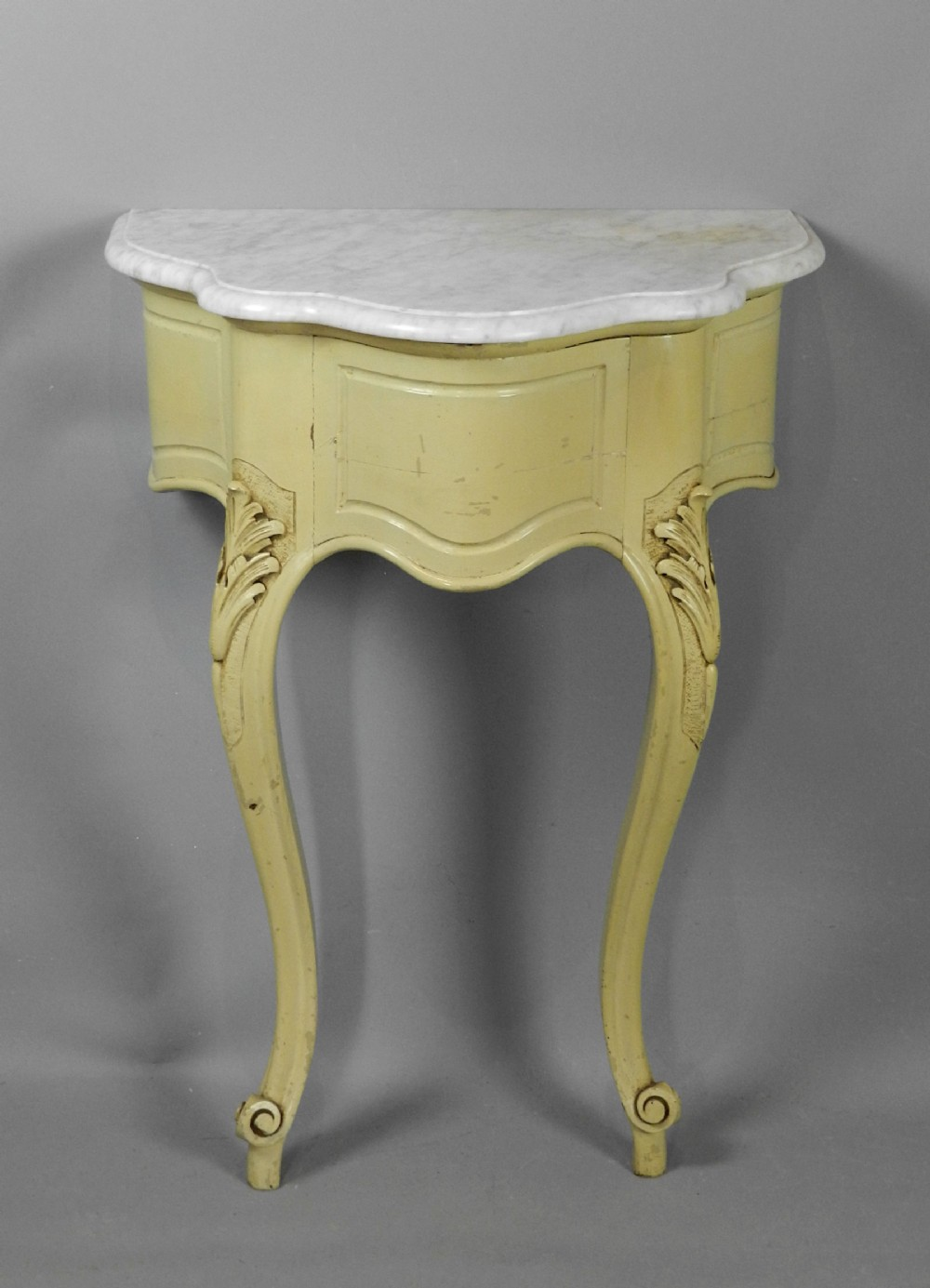 painted french console table louis vx style