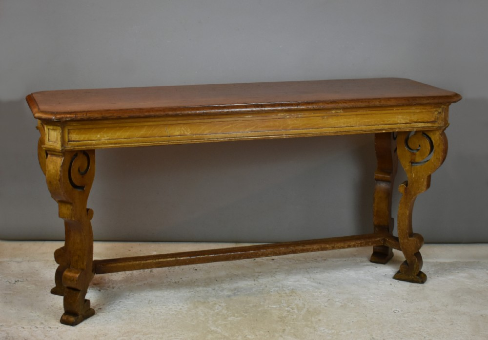antique french oak hall table
