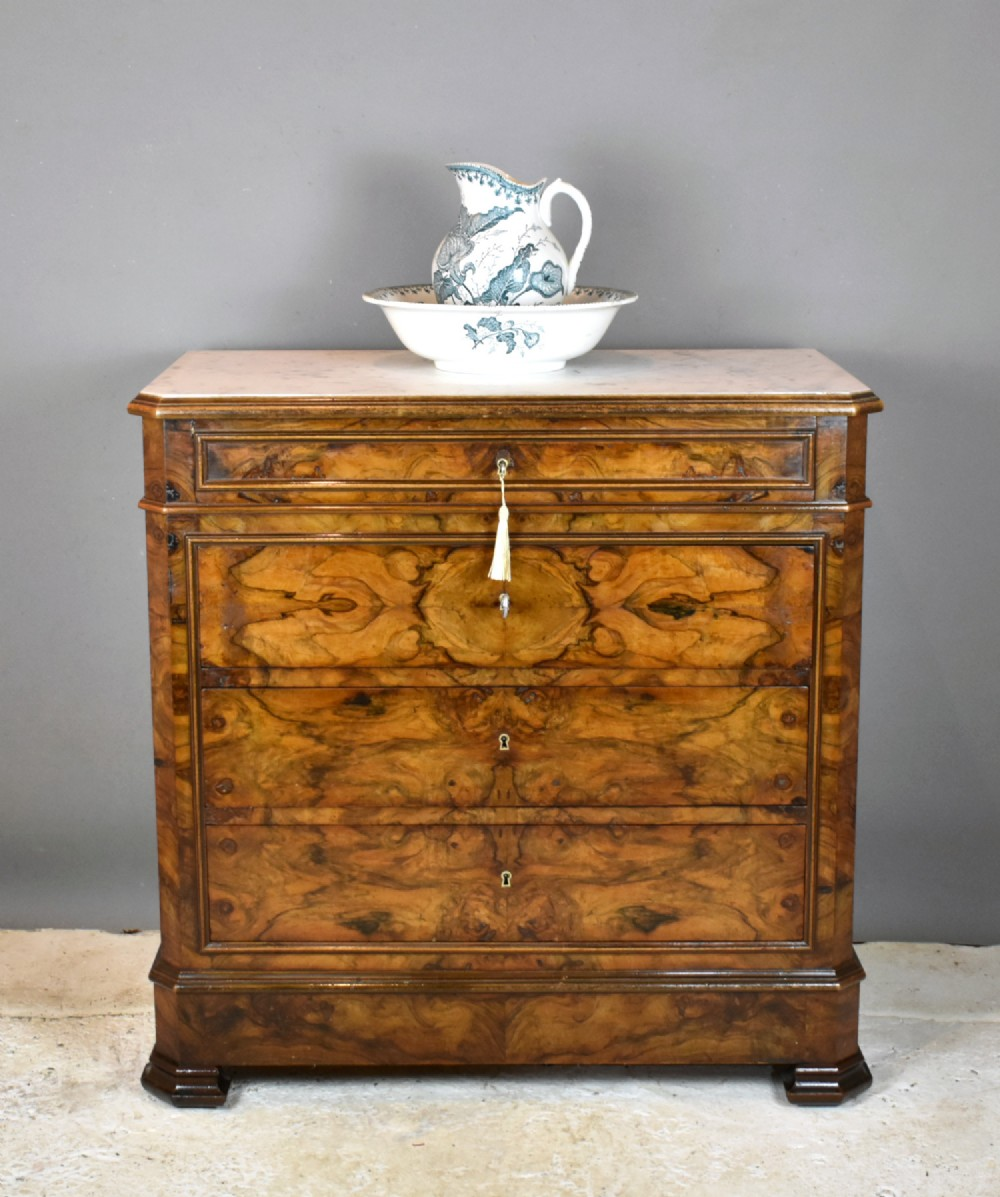 antique french walnut commode