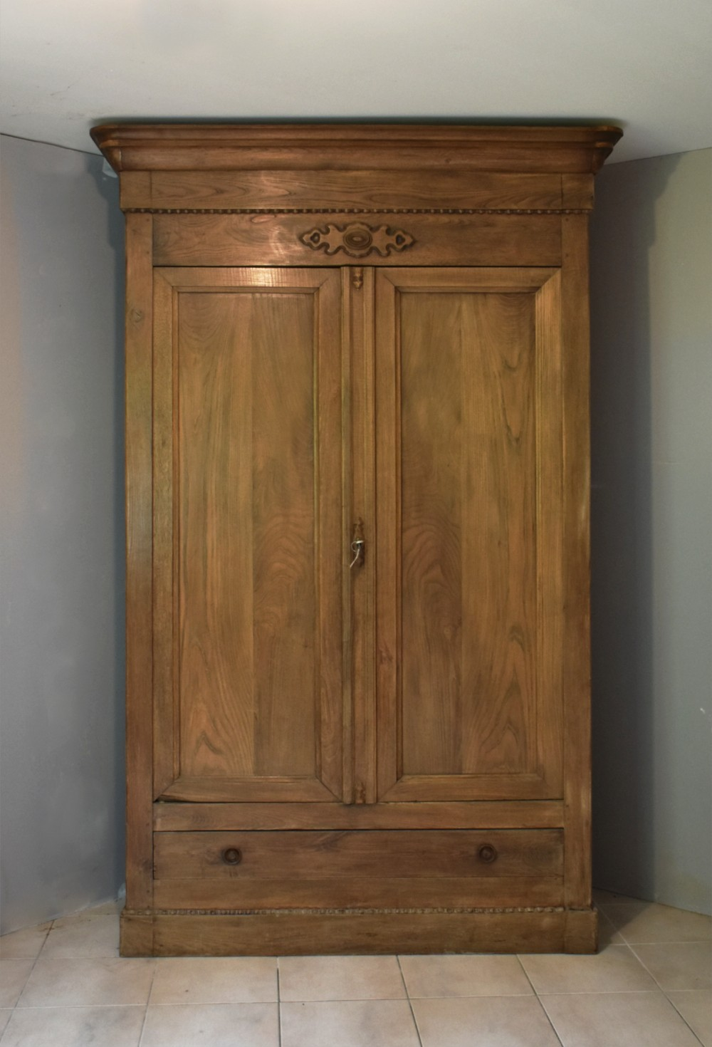 large french 19th century walnut armoire