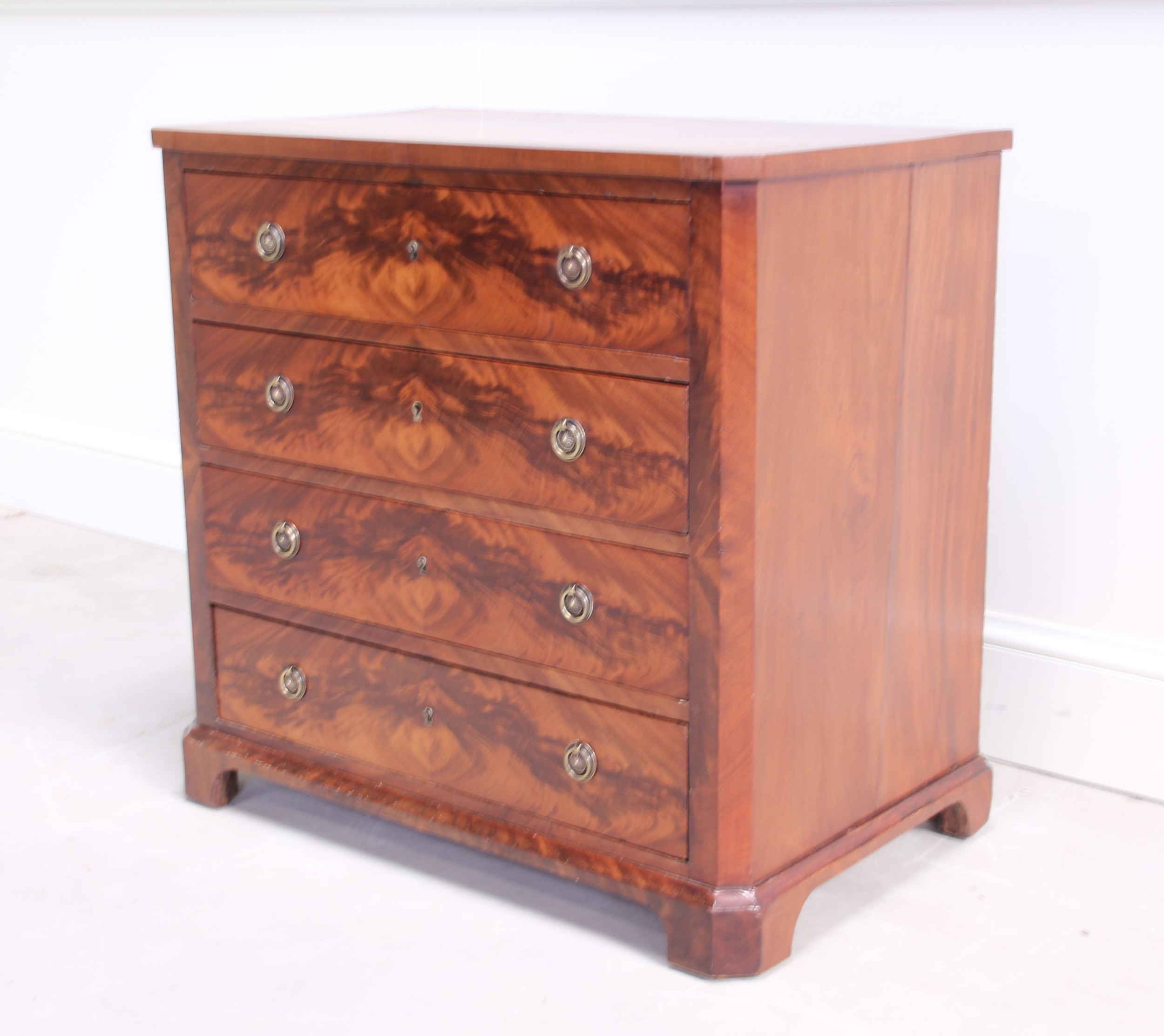 a 19th century mahogany chest of drawers