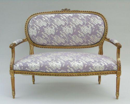 pretty french giltwood sofa