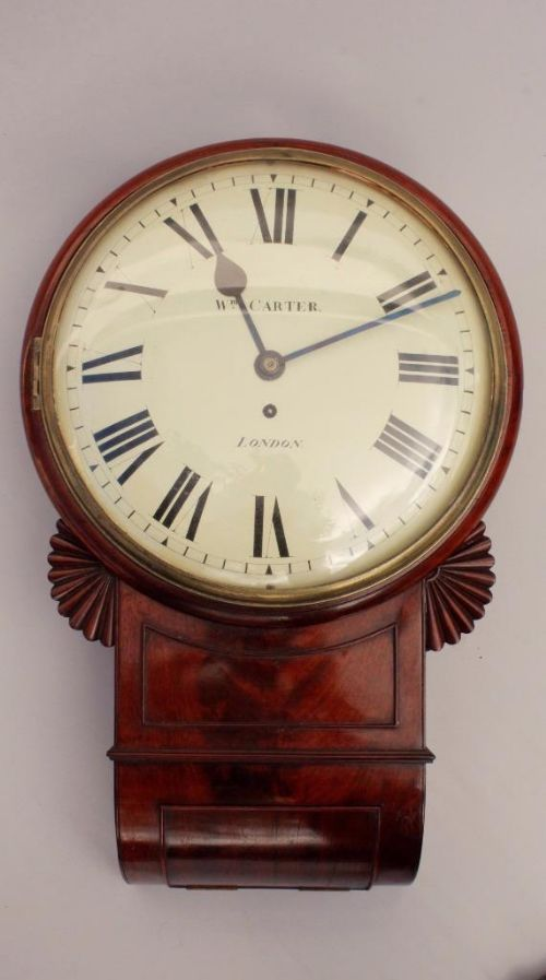 fine regency london fusee wall clock