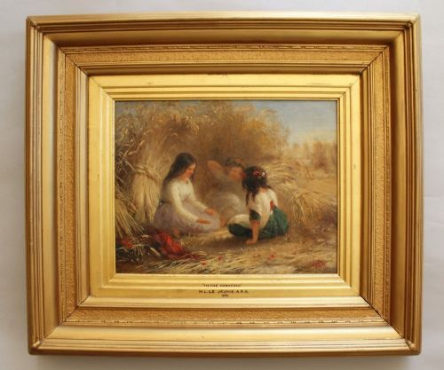 in the cornfield 19th century oil painting henry le jeune