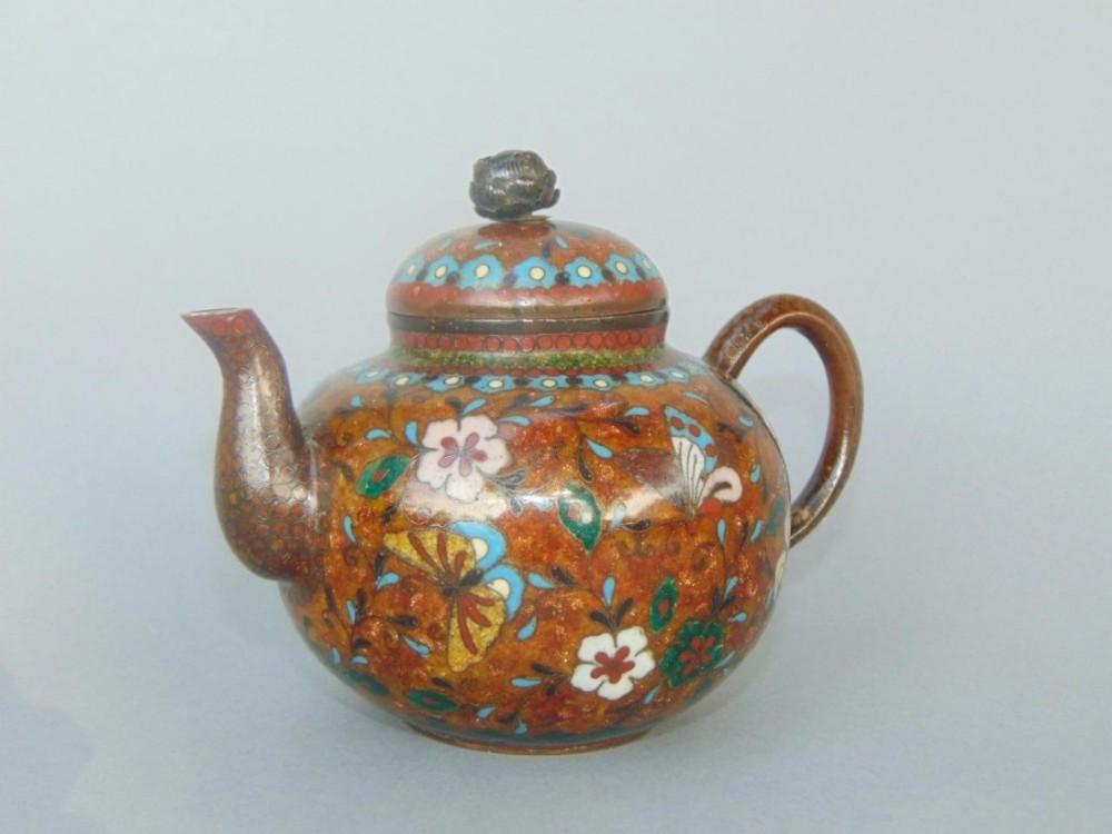 japanese meiji period cloisonn teapot