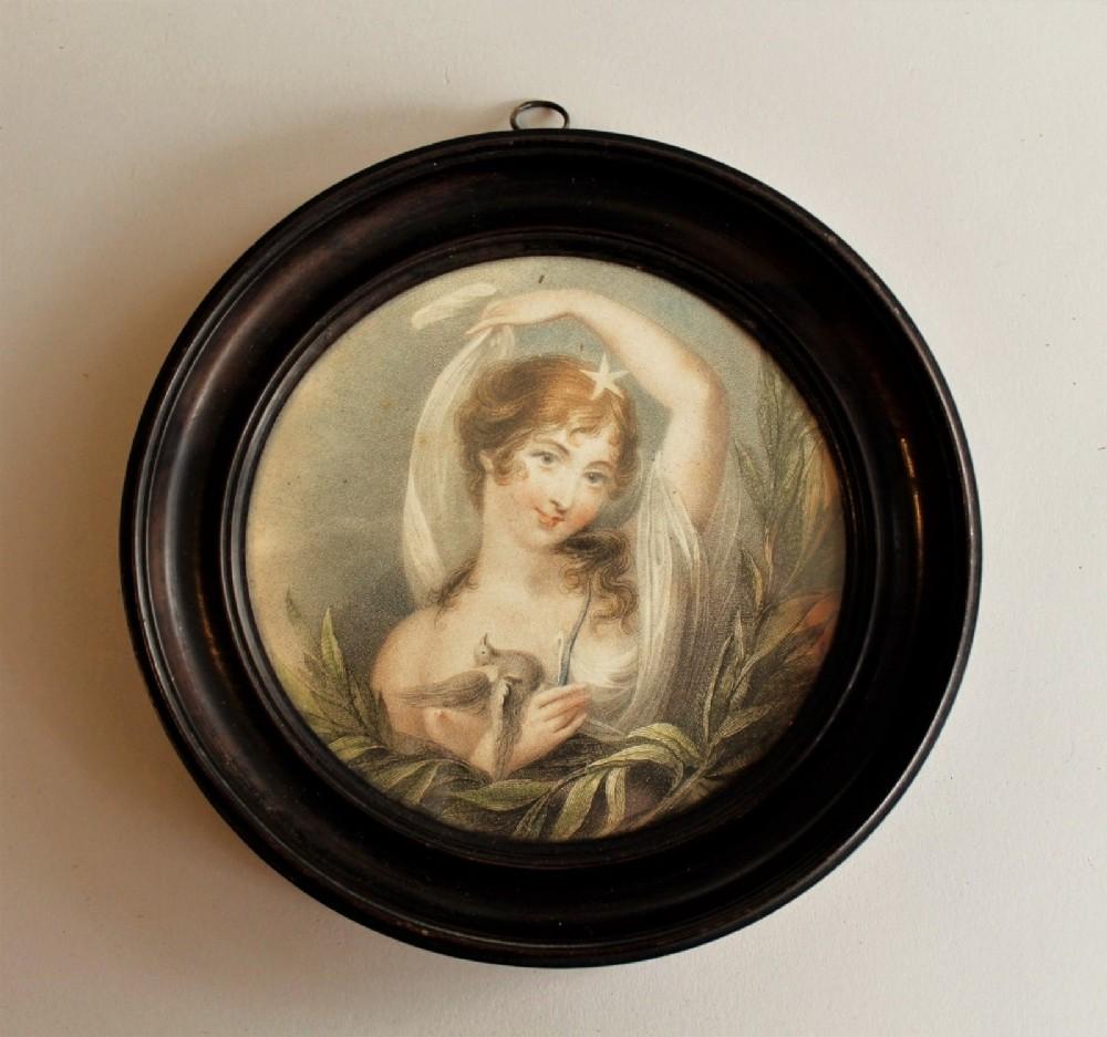 18th century miniature engraving venus dove