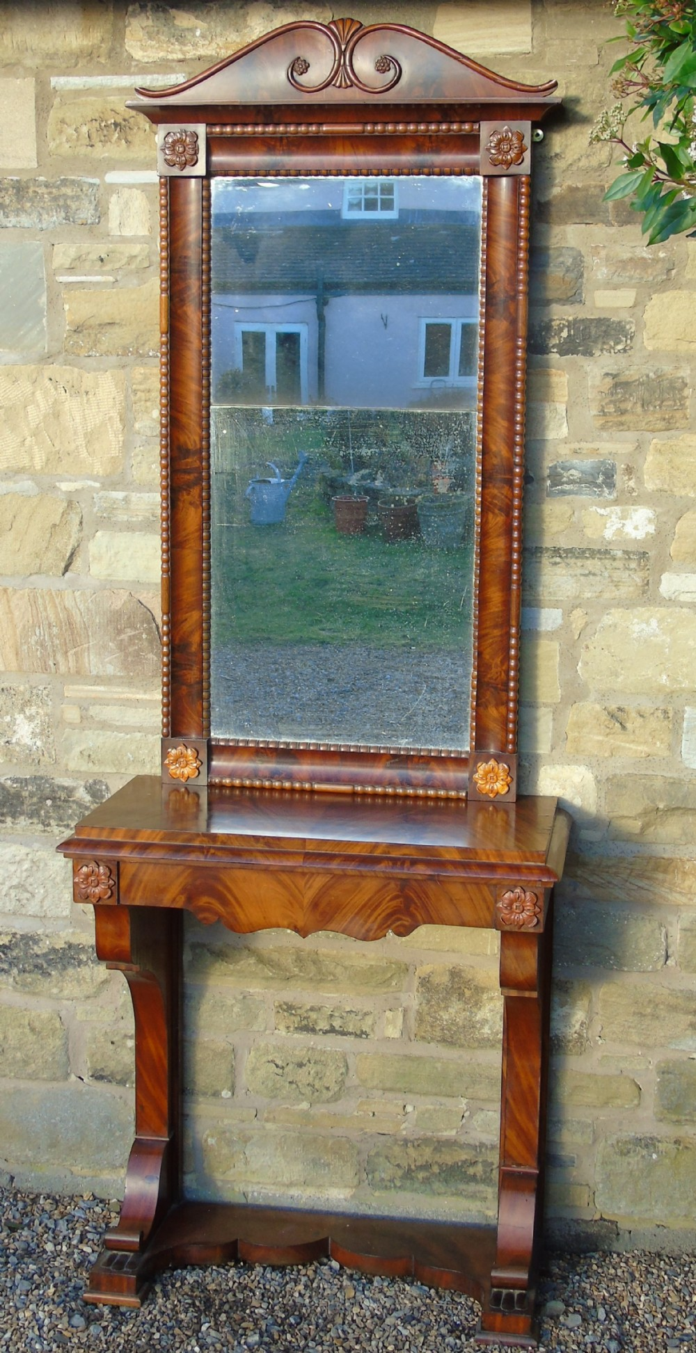 a fine 19th century french mahogany console table mirror ensuite