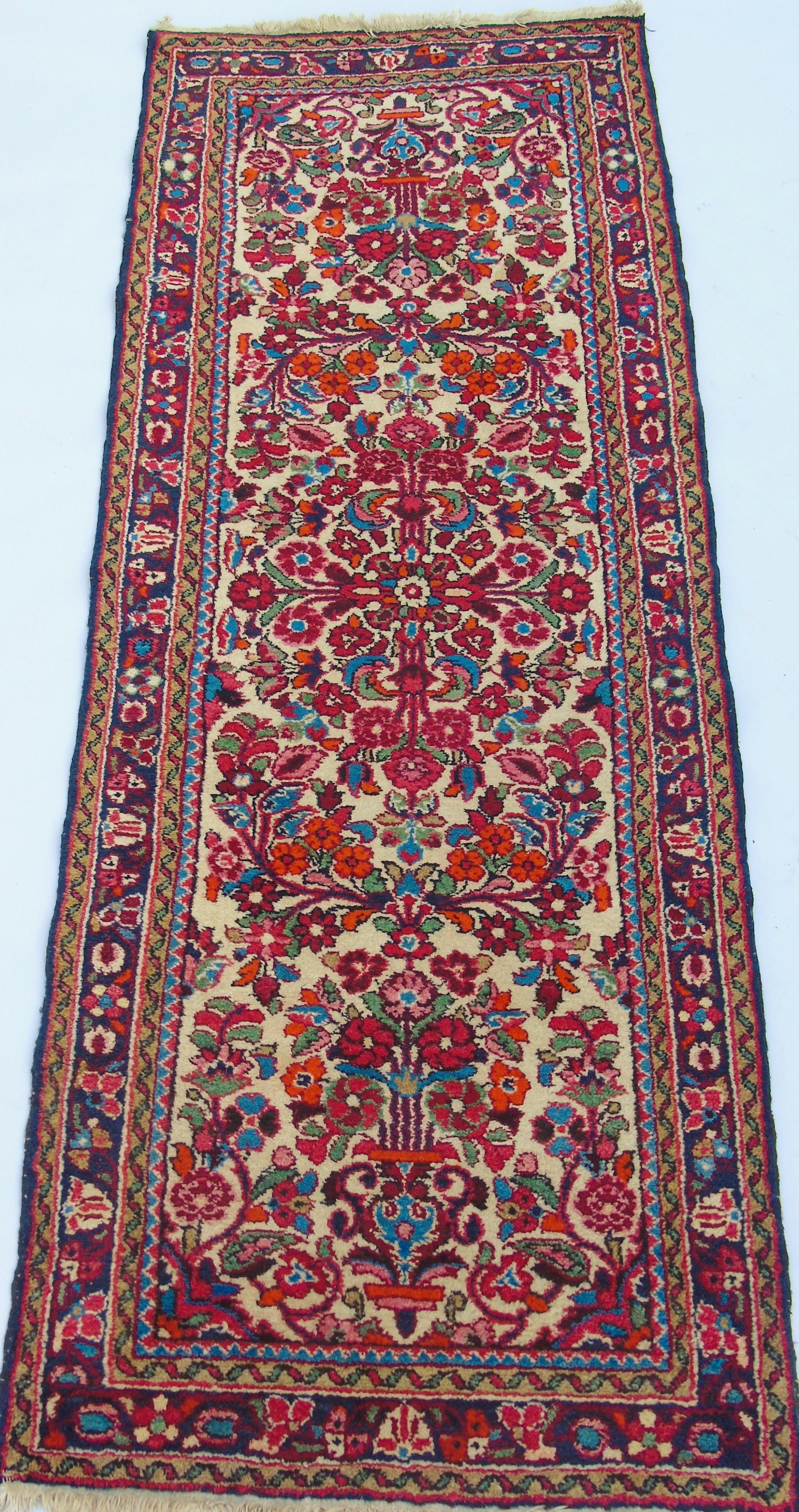 hand woven hamadan runner carpet
