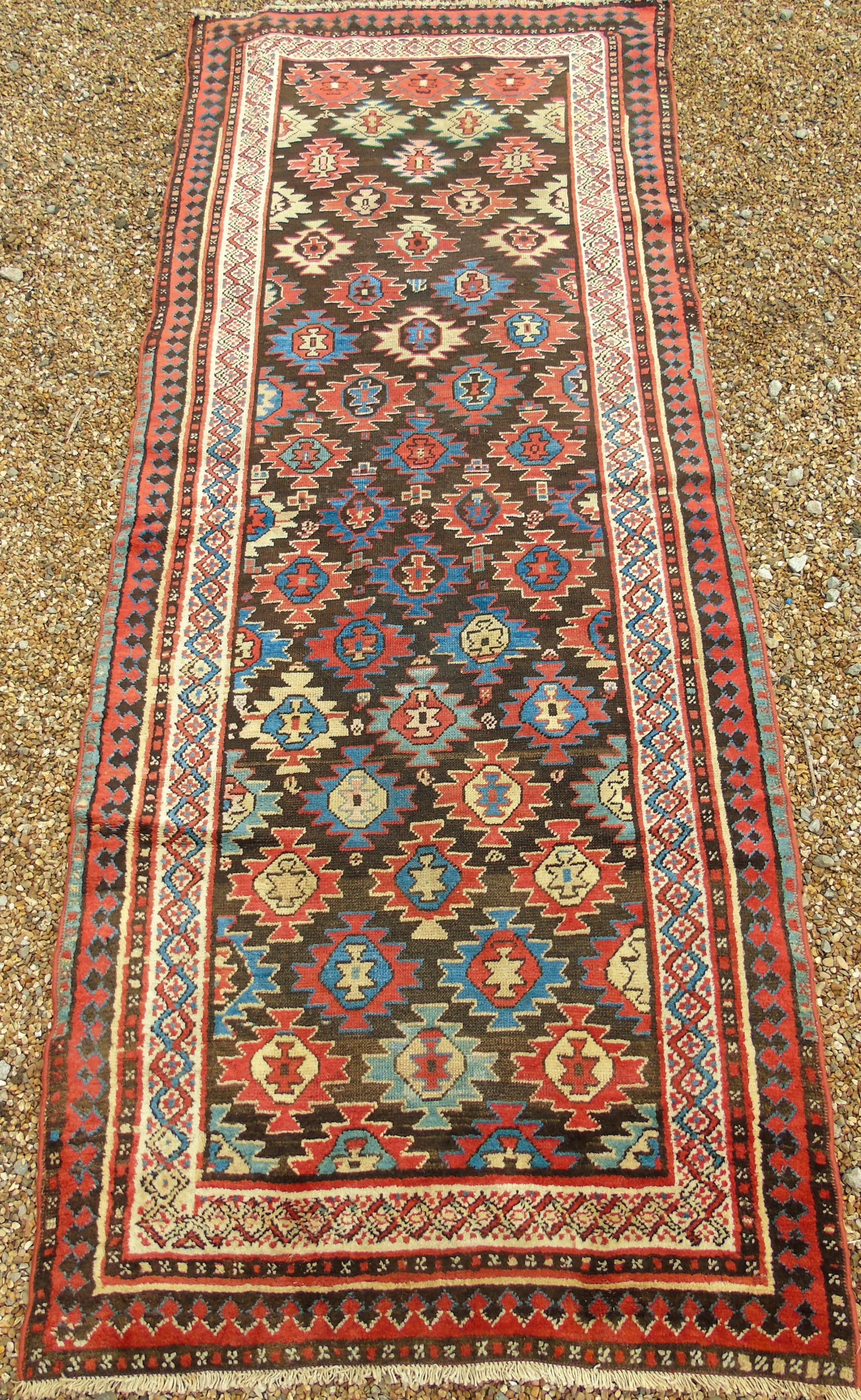 antique north west persian runner 291 x 117 cms