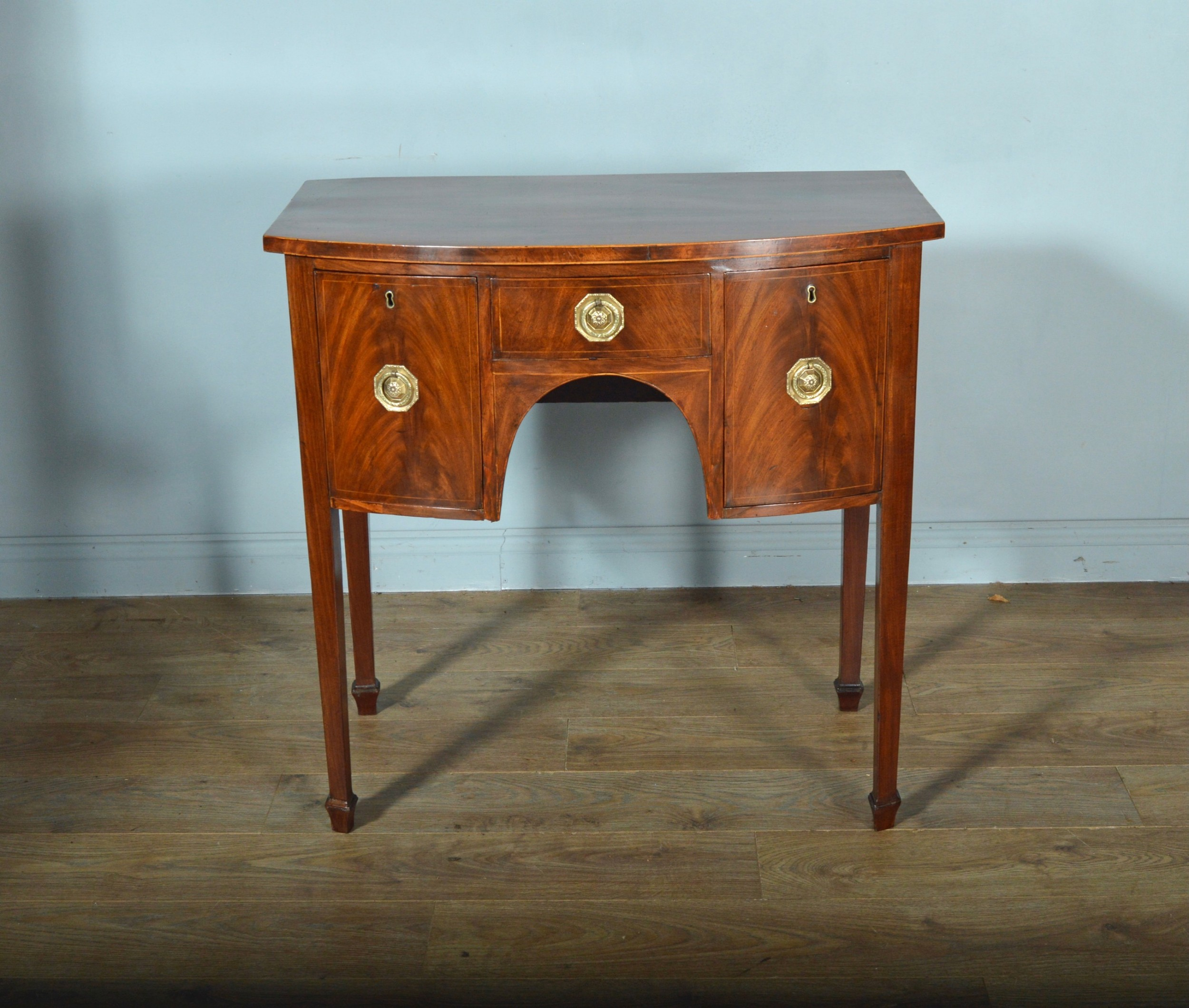 exceptional antique small georgian bow front sideboard