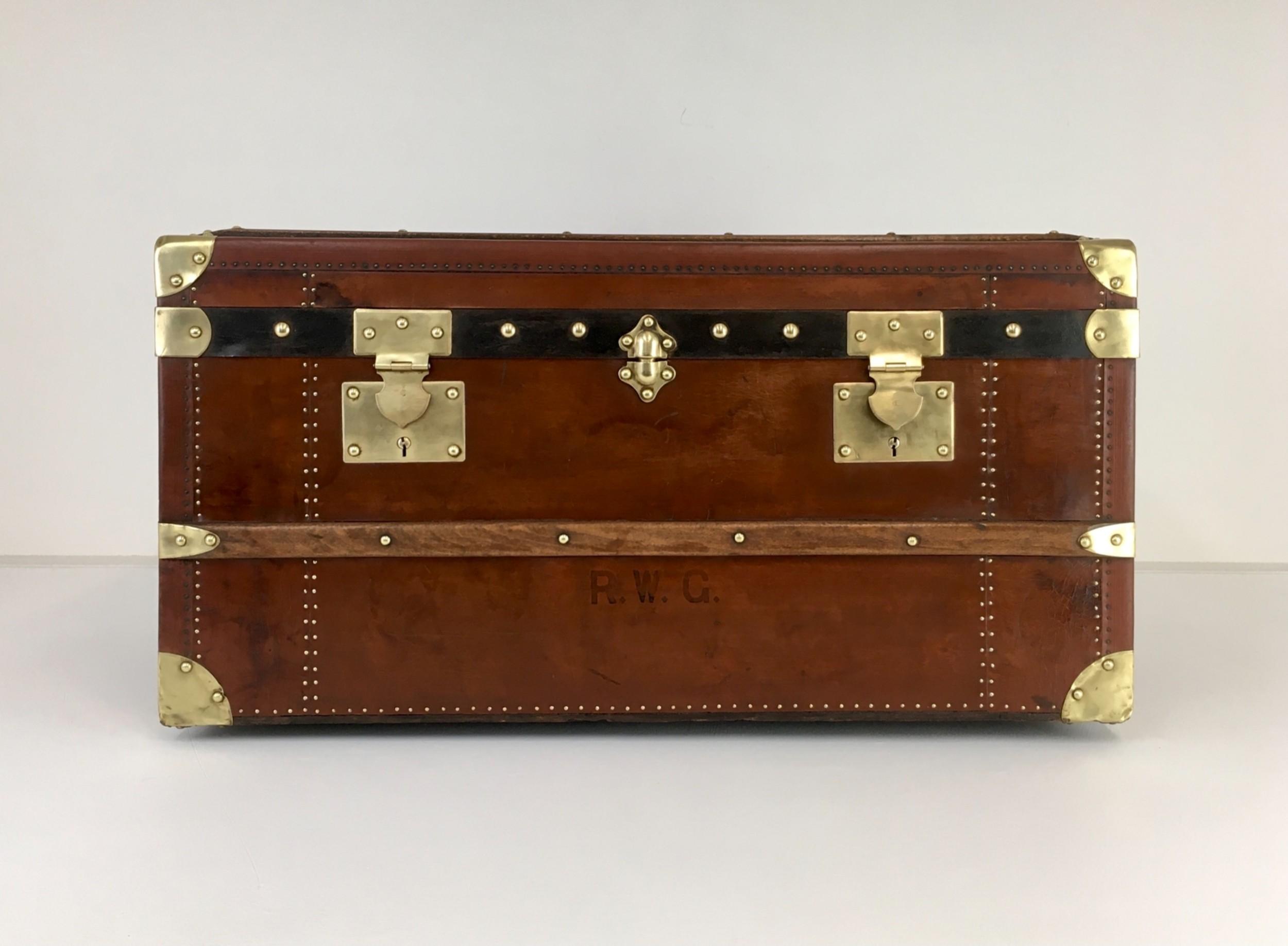 vintage steamer trunk antique vintage leather trunk luggage