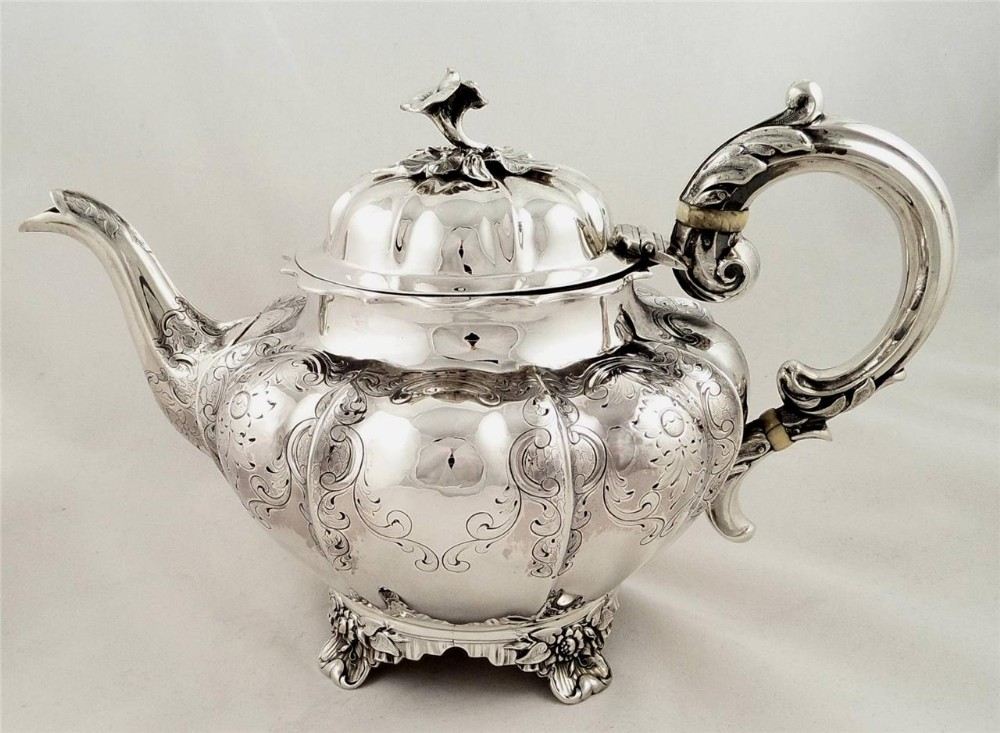 Antique Victorian Sterling Silver Teapot By Hayne Cater ...