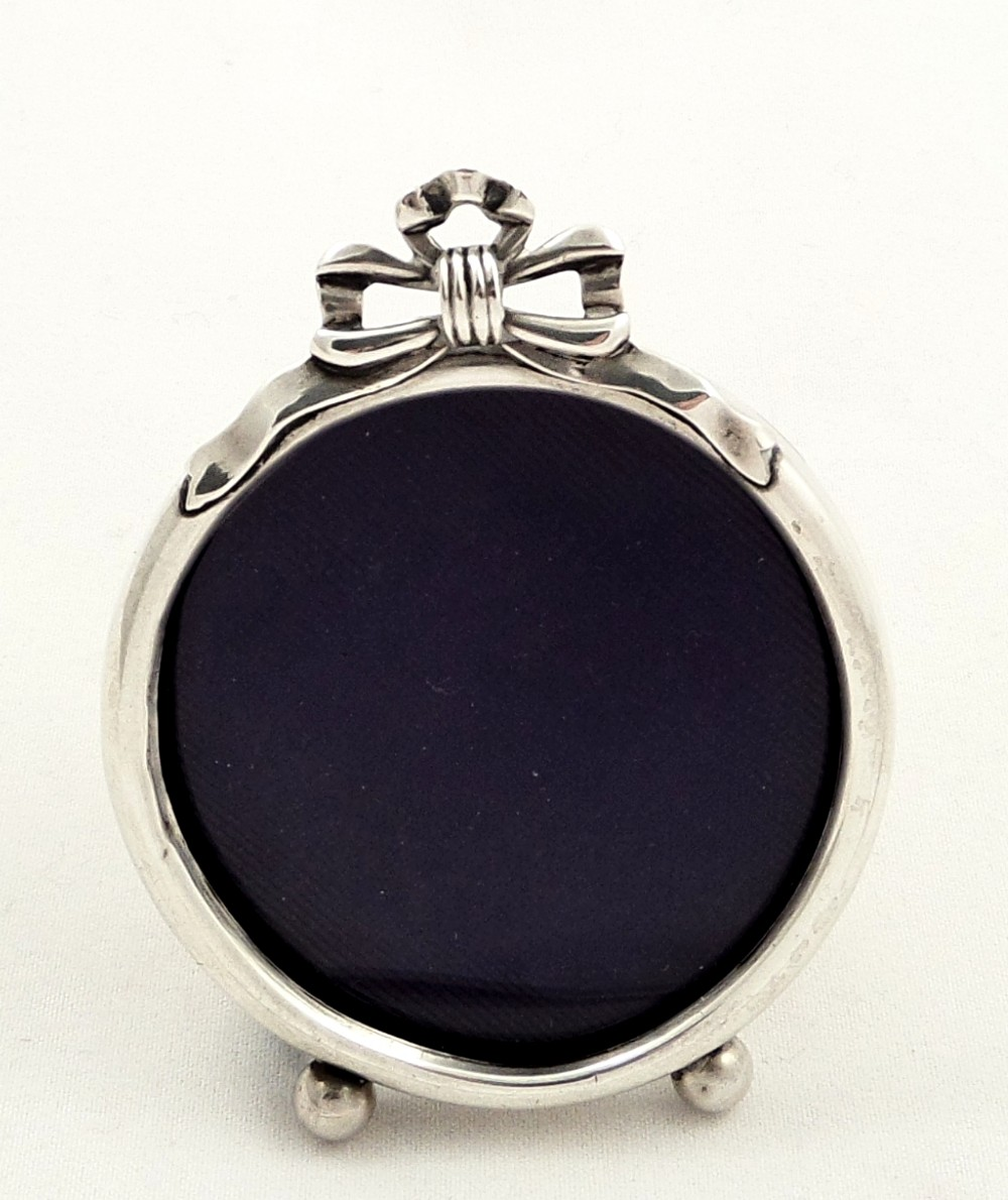 Antique Sterling Silver Miniature Photo Frame 1912 275341