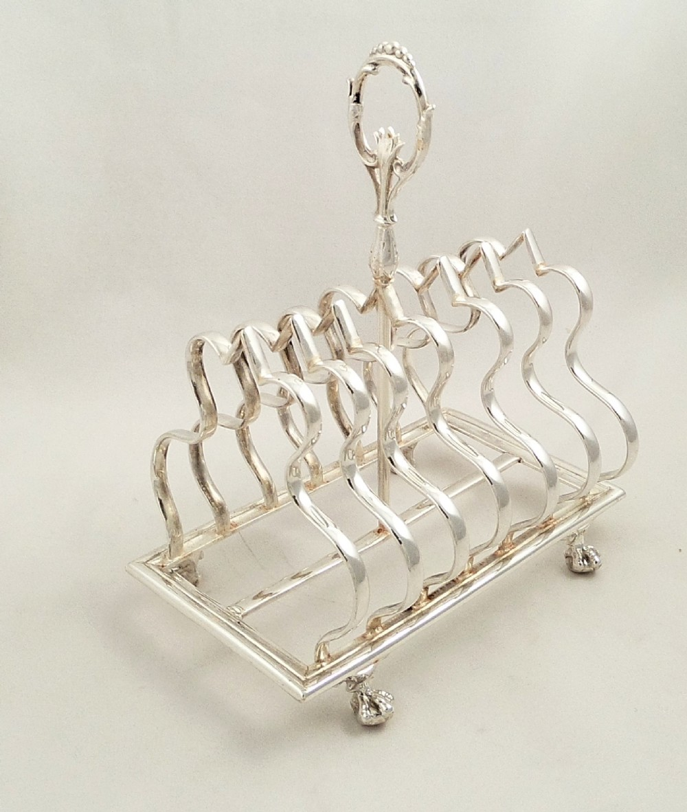 antique silver plated toast rack walker hall c1900 & Antique Silver Plated Toast Rack - Walker u0026 Hall - C1900 | 297431 ...