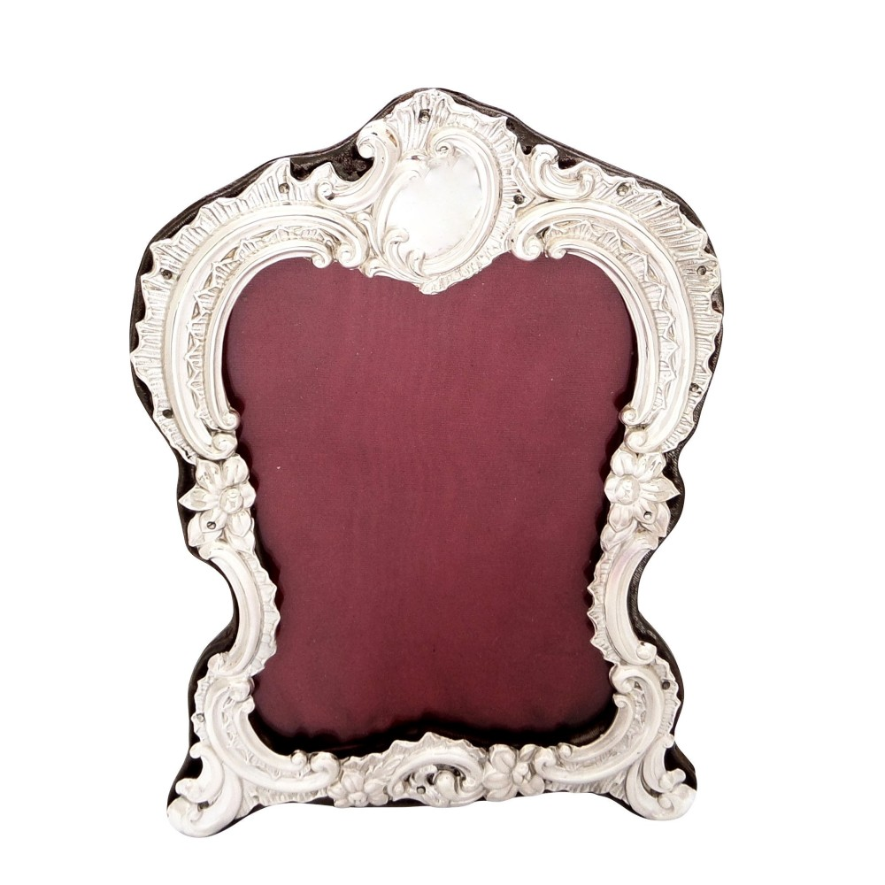 antique victorian sterling silver 8 photo frame 1896