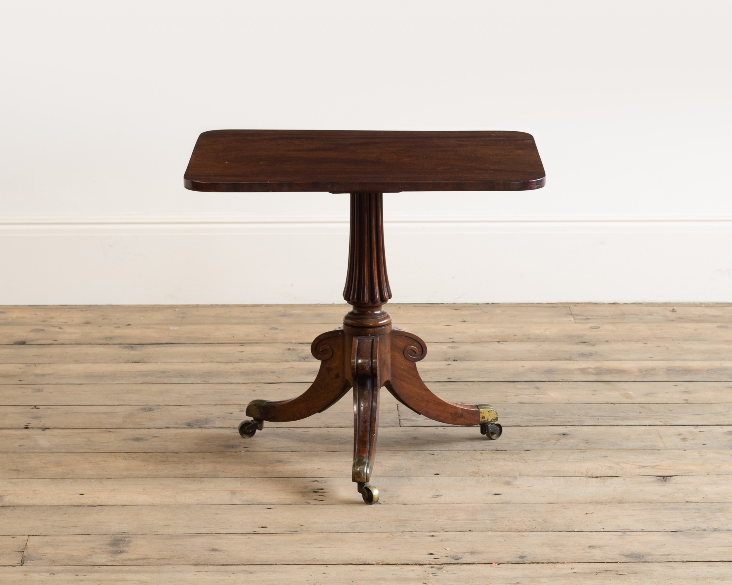 a regency mahogany 'cutdown' table