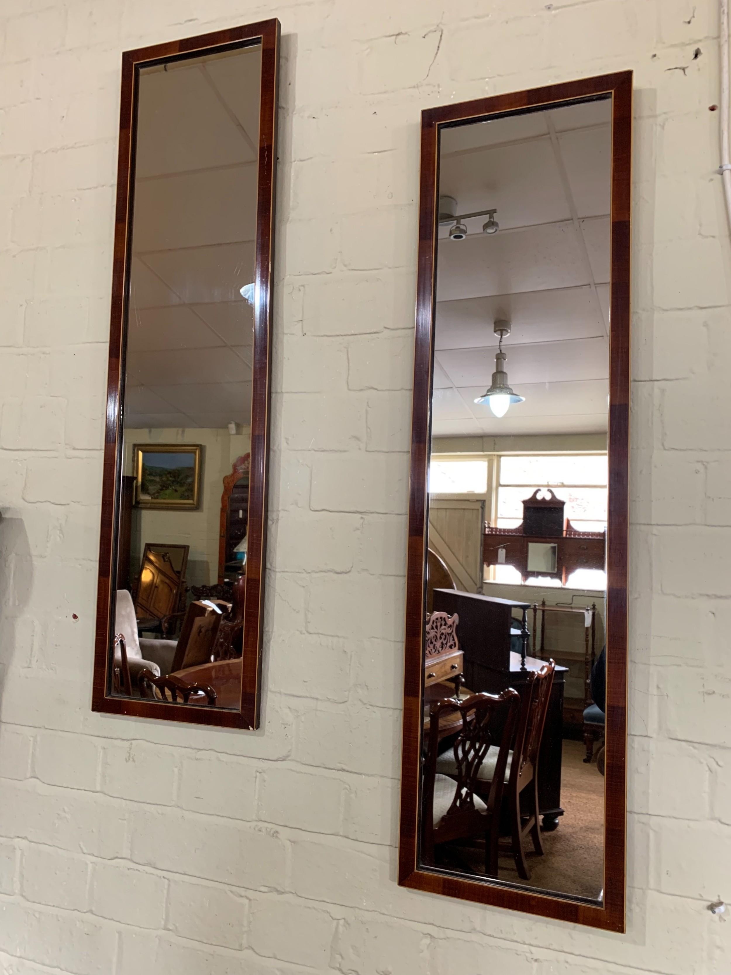 pair of yew pier mirrors