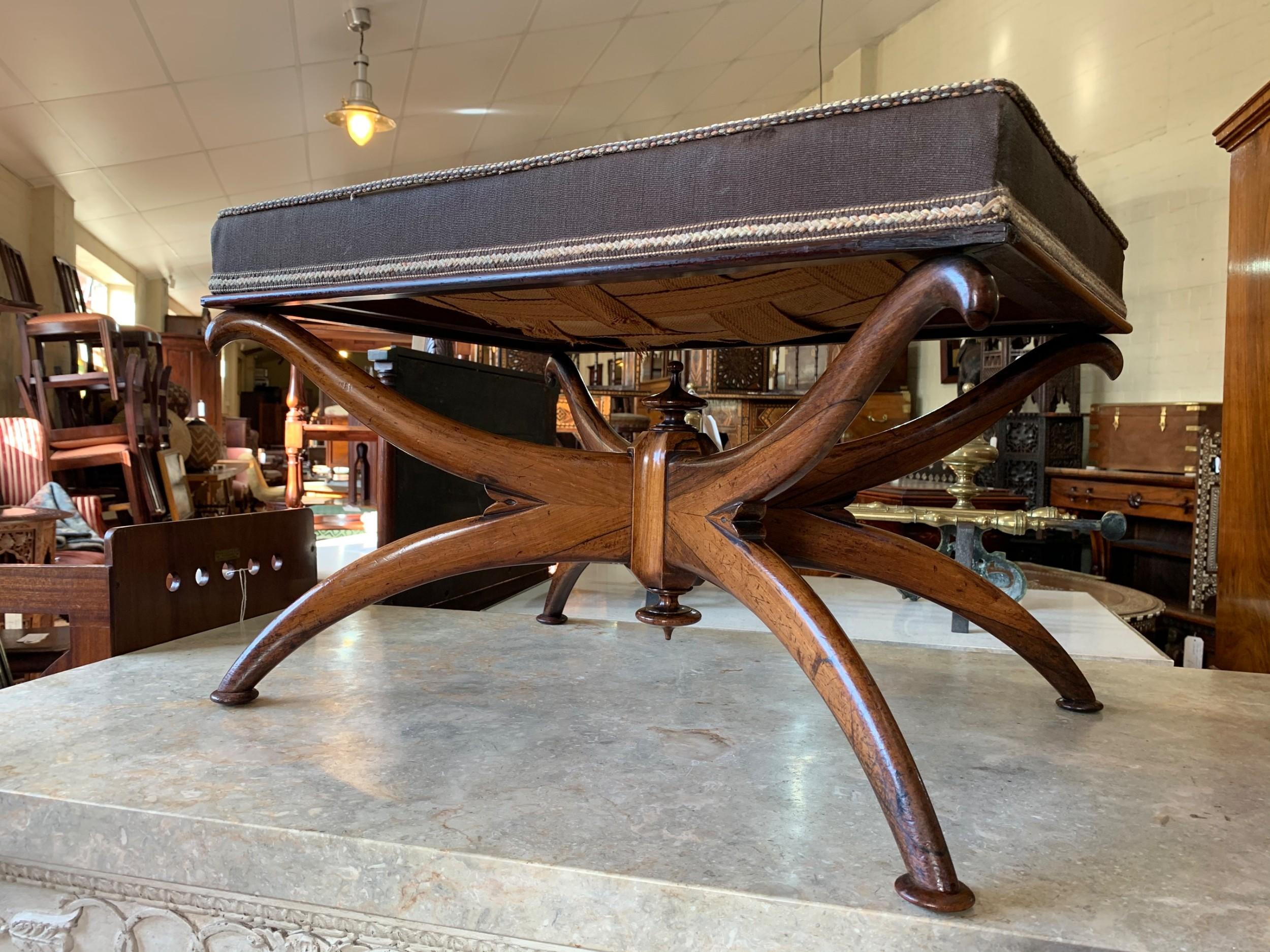 william iv rosewood stool