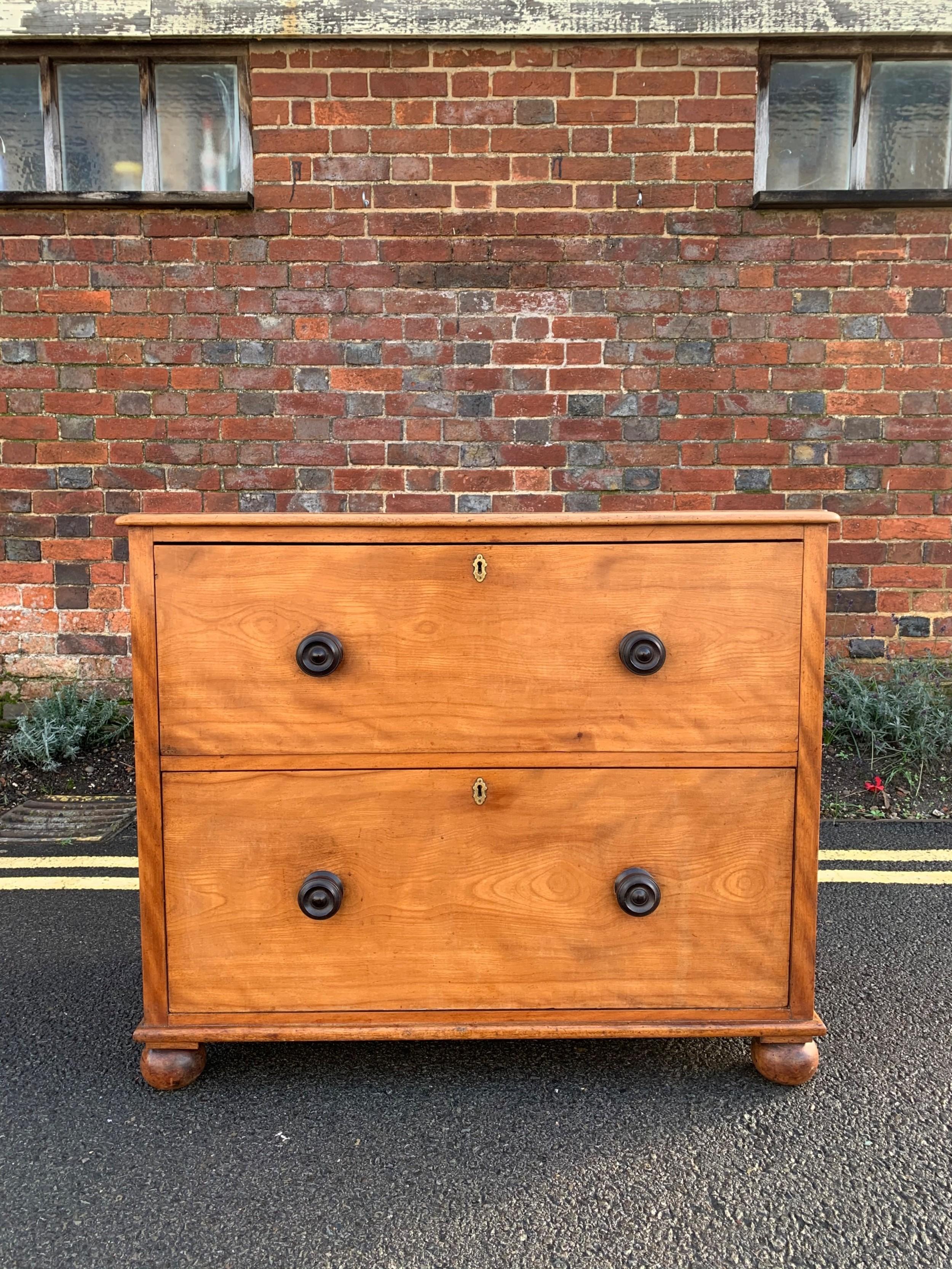 small satin birch chest