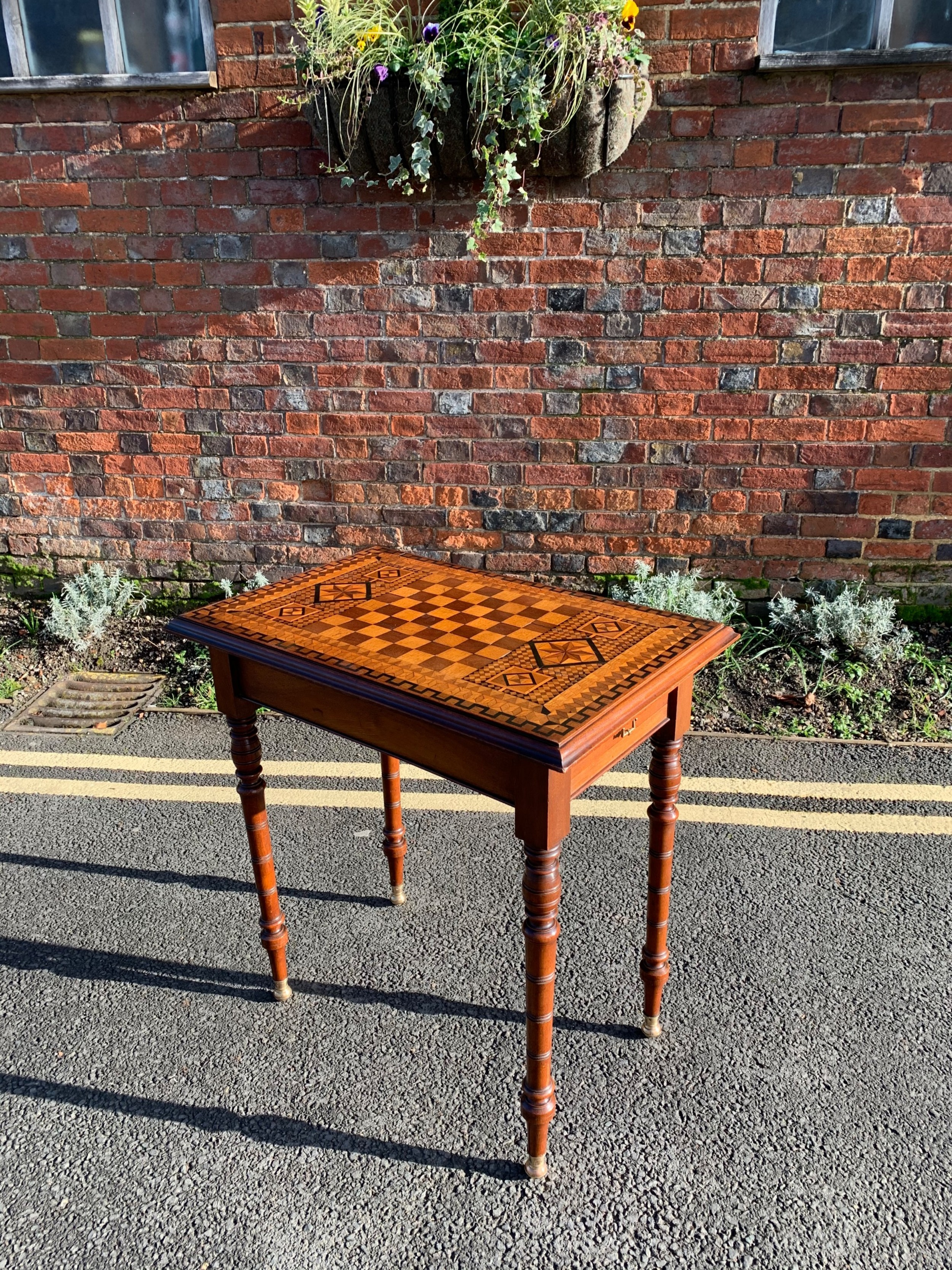 victorian parquetry table