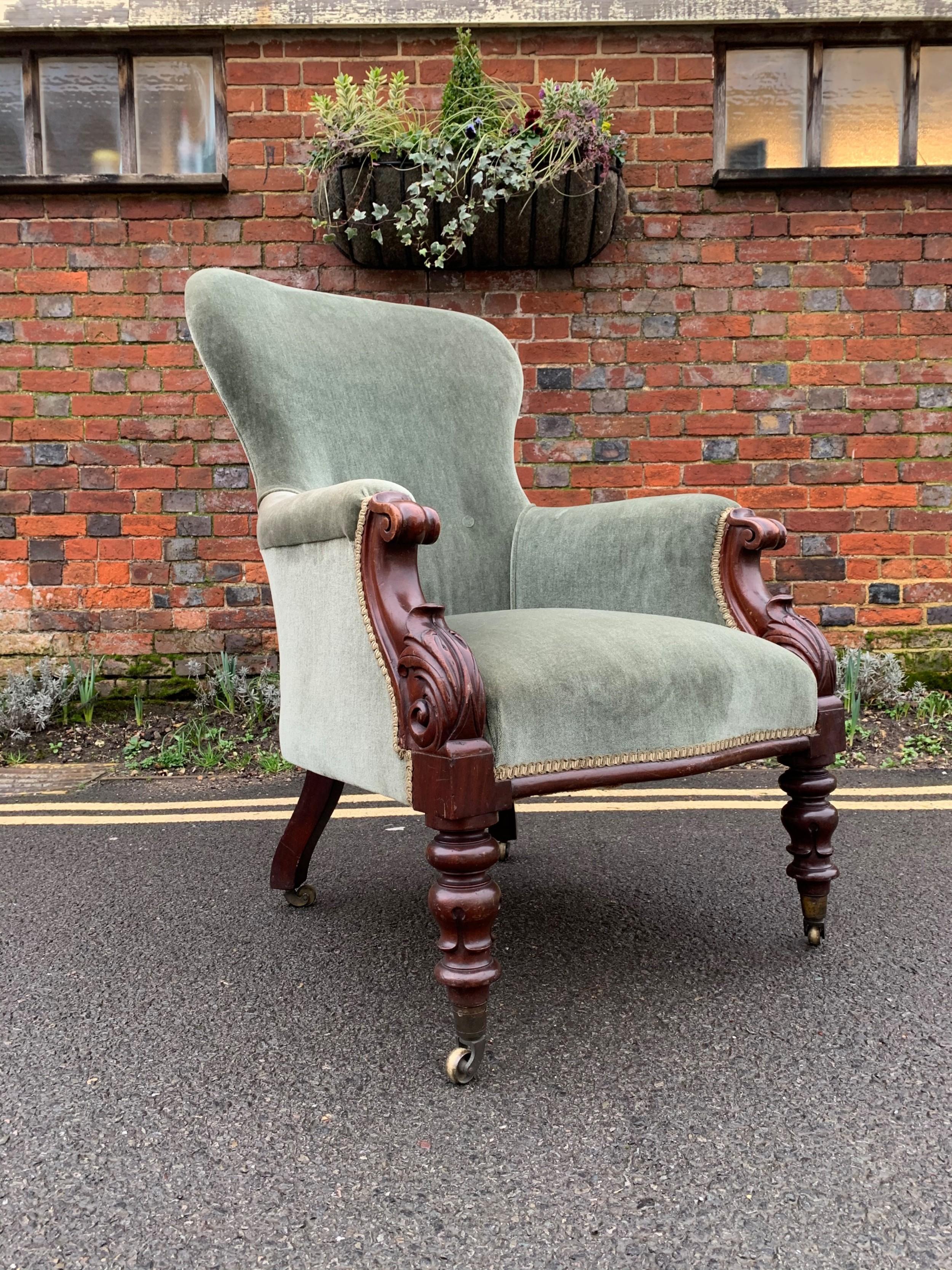 william iv mahogany armchair