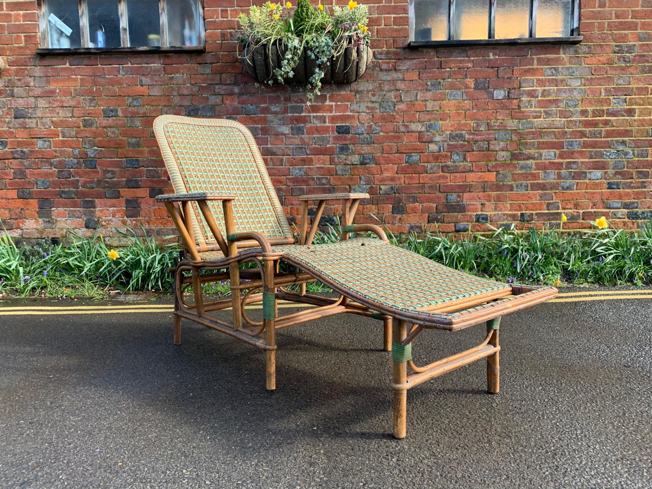 antique steamer chair