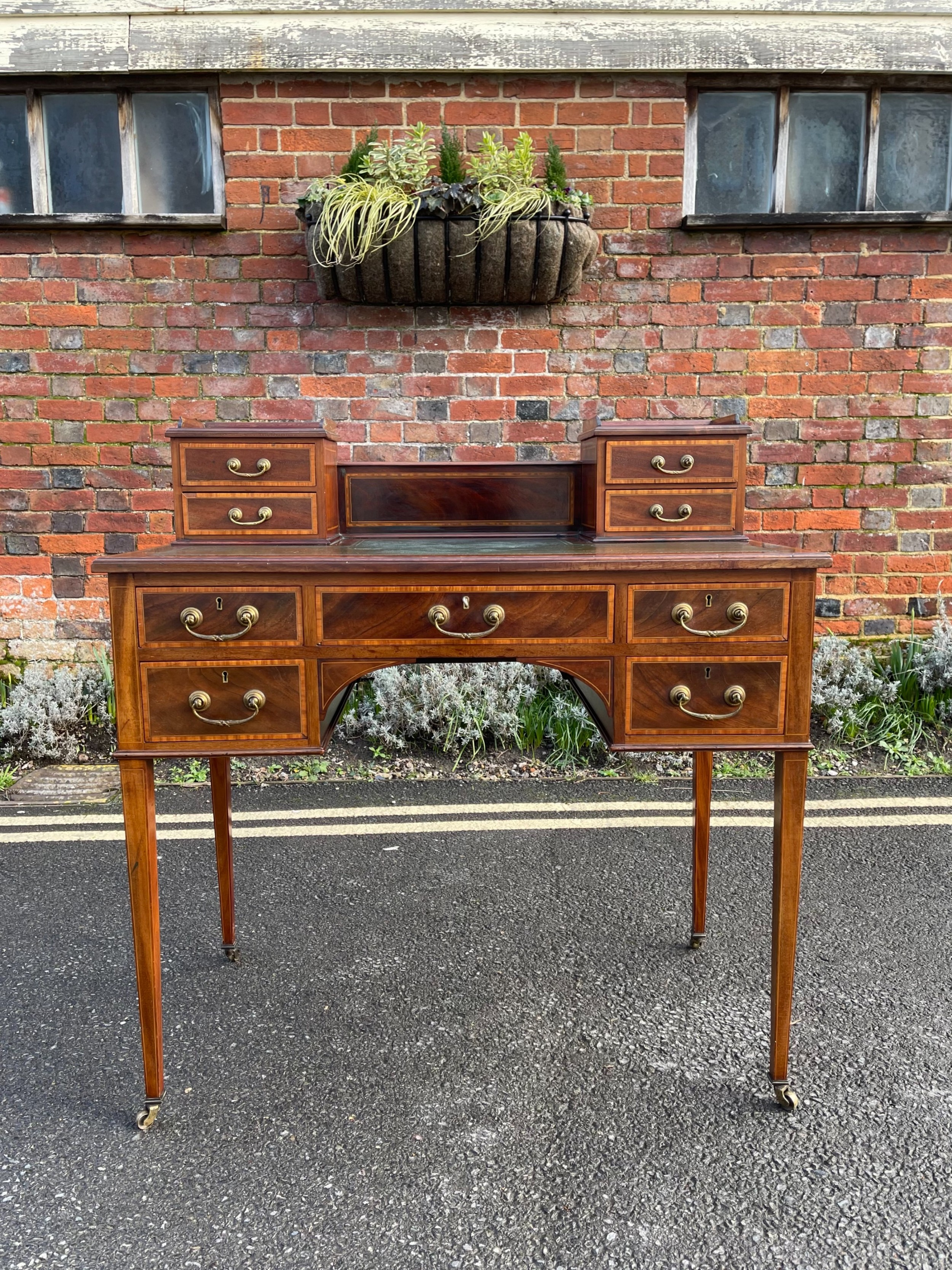 edwardian inlaid mahogany desk