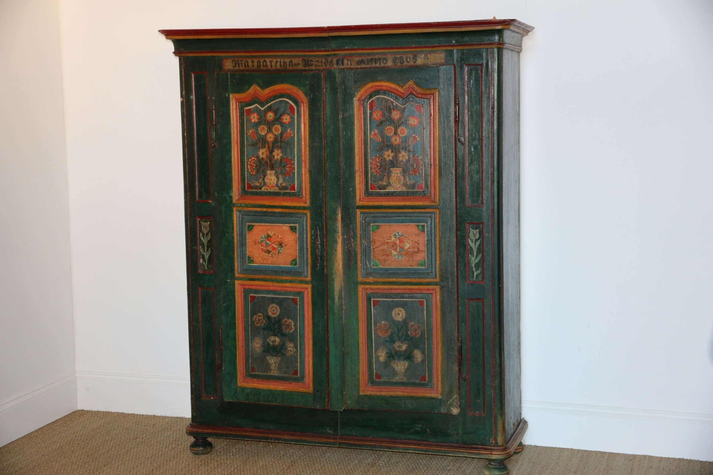 hand painted armoire 1805