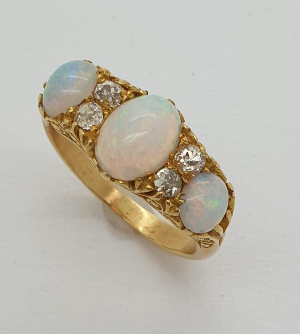 opal gypsy set ring