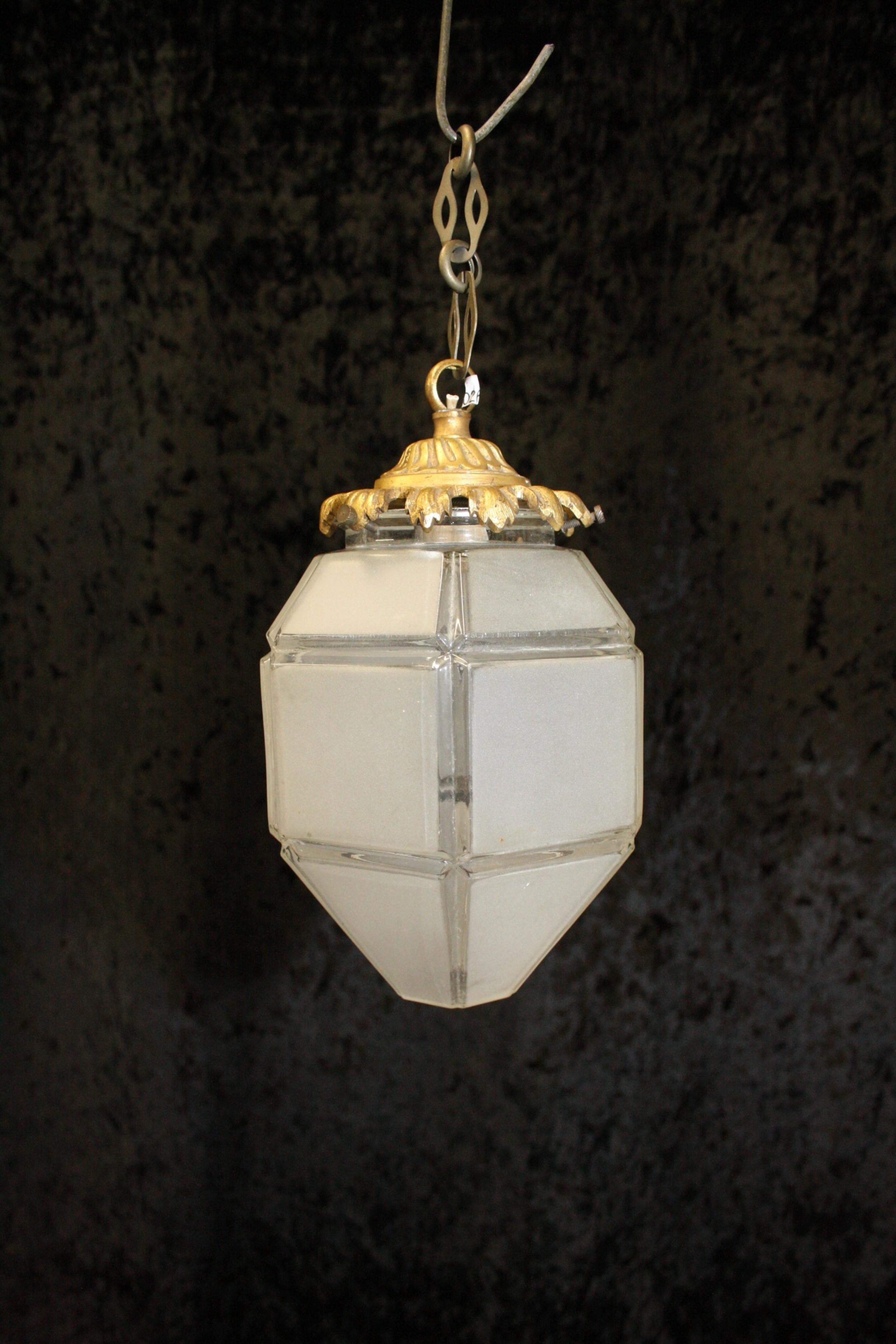 small hexagon french empire lantern c1930