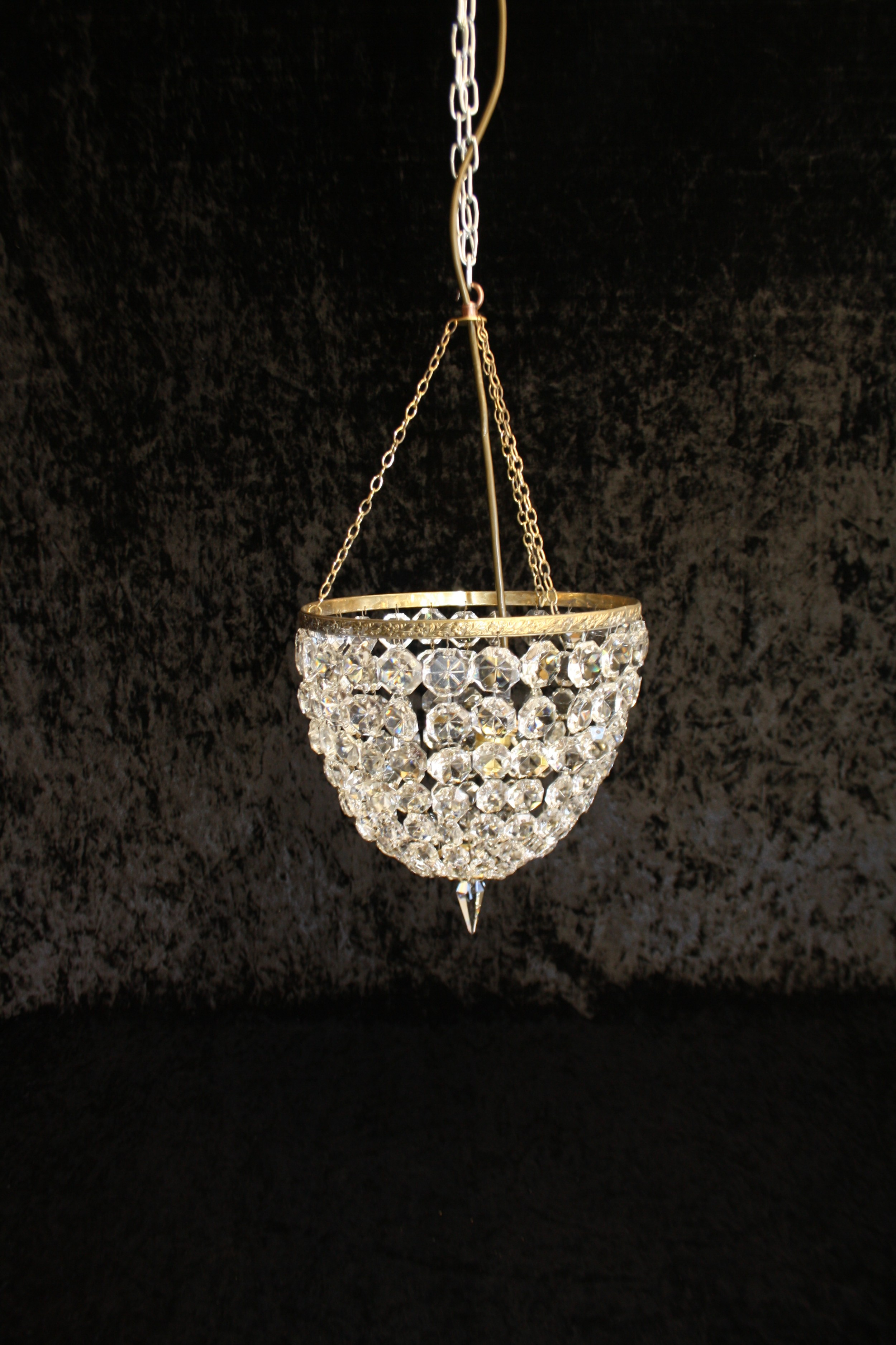 early 20th century large bag chandelier